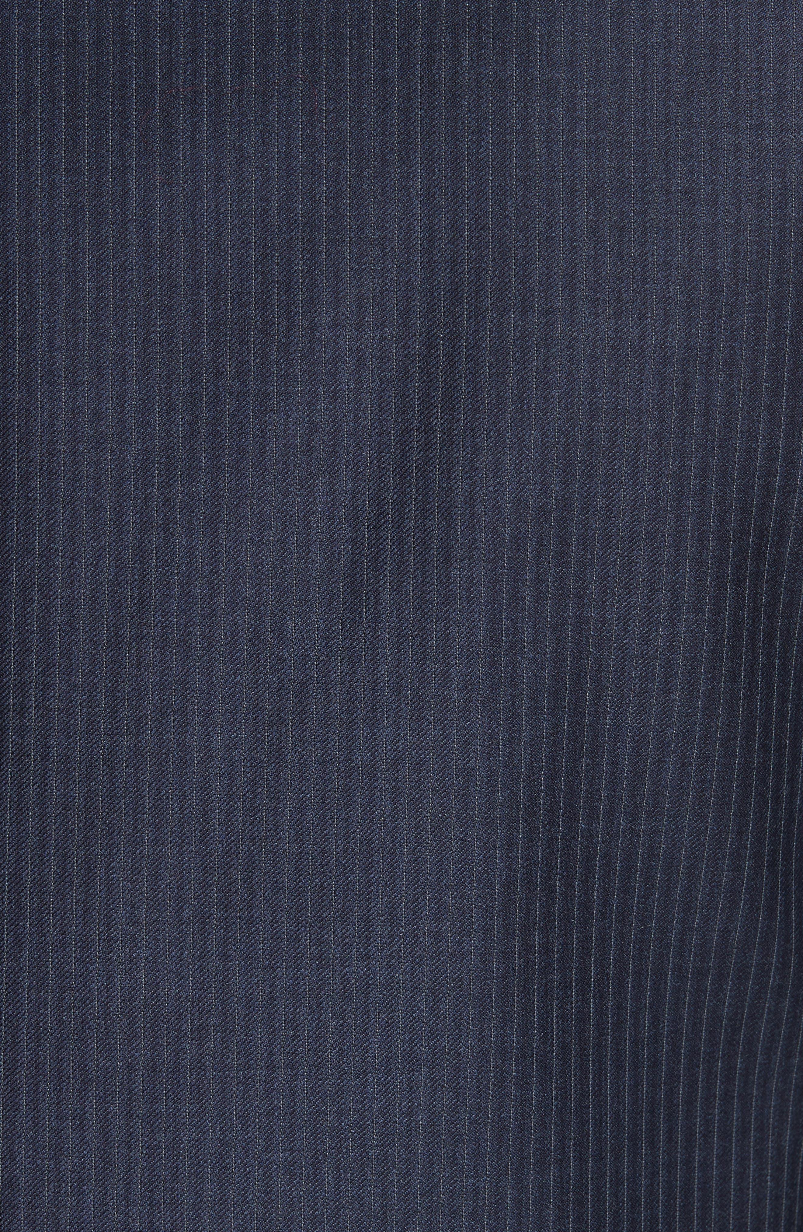 Siena Classic Fit Stripe Wool Suit,                             Alternate thumbnail 3, color,                             Blue
