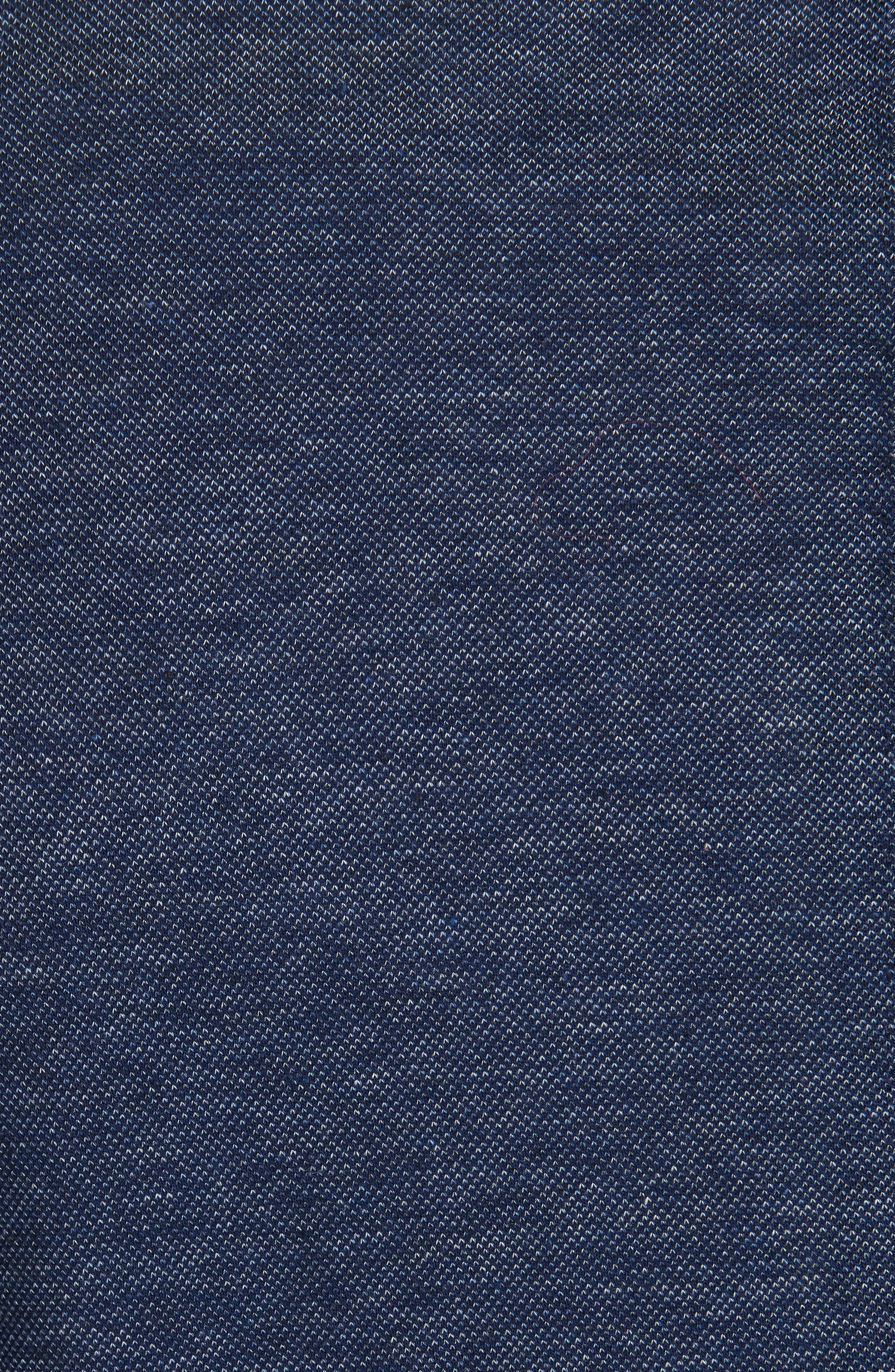 Slim Fit Cotton Blazer,                             Alternate thumbnail 4, color,                             Blue