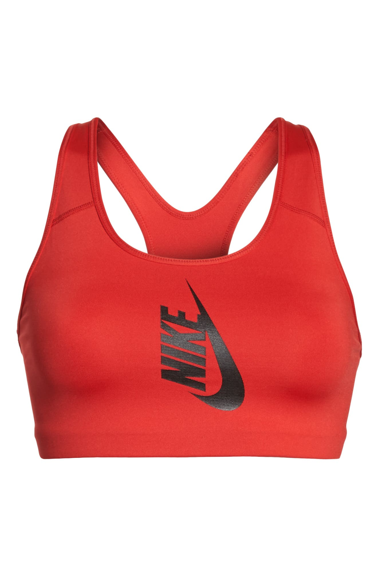 NikeLab Sports Bra,                             Alternate thumbnail 7, color,                             University Red/ Black