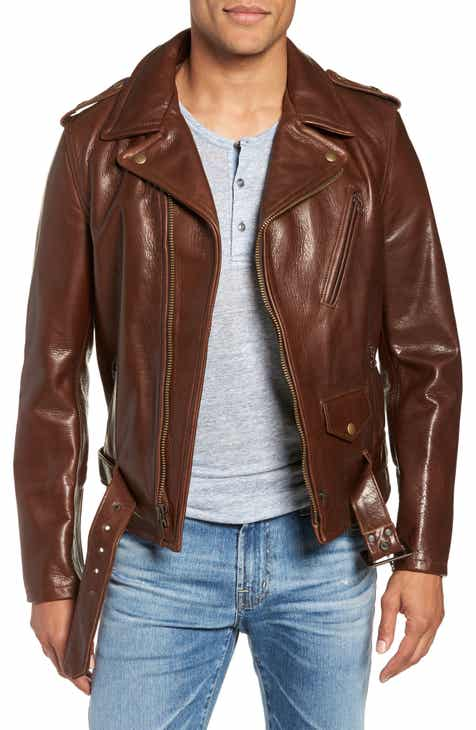 91a2576e5 Schott NYC '50s Oil Tanned Cowhide Leather Moto Jacket