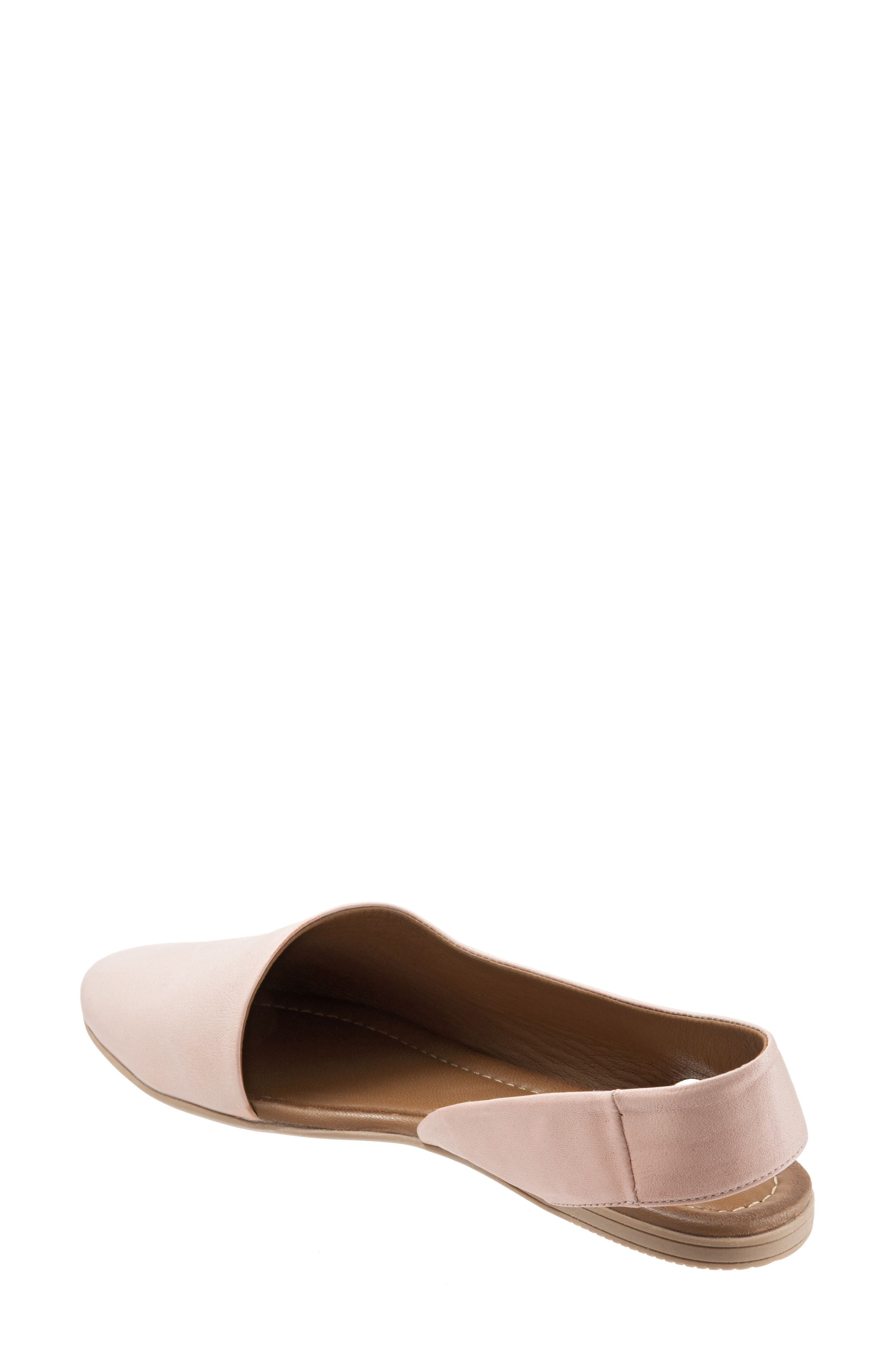 Keep Slingback Flat,                             Alternate thumbnail 2, color,                             Pale Pink Leather