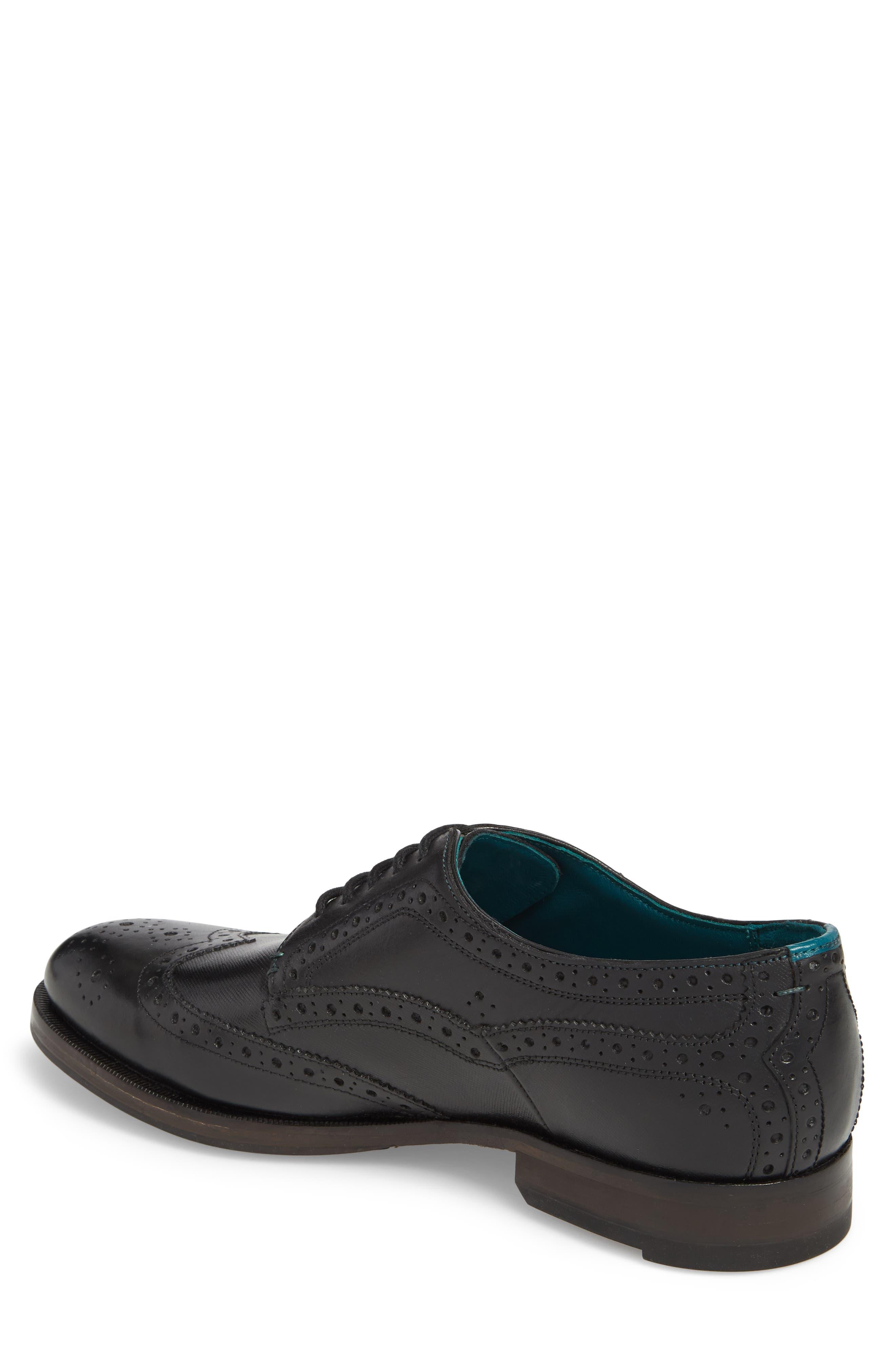 Senape Wingtip,                             Alternate thumbnail 2, color,                             Black Leather