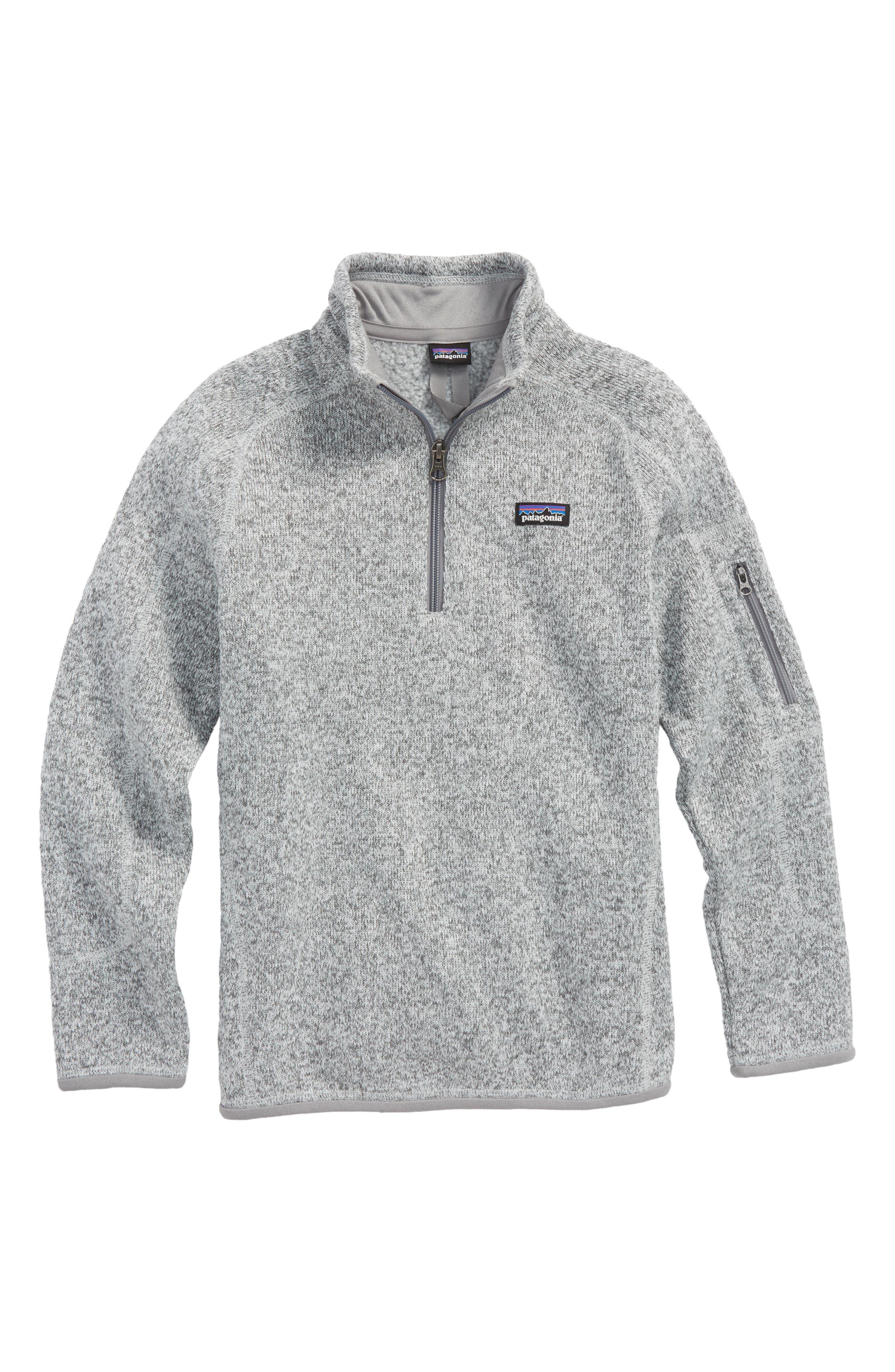 Better Sweater Quarter Zip Pullover,                             Main thumbnail 1, color,                             Birch White