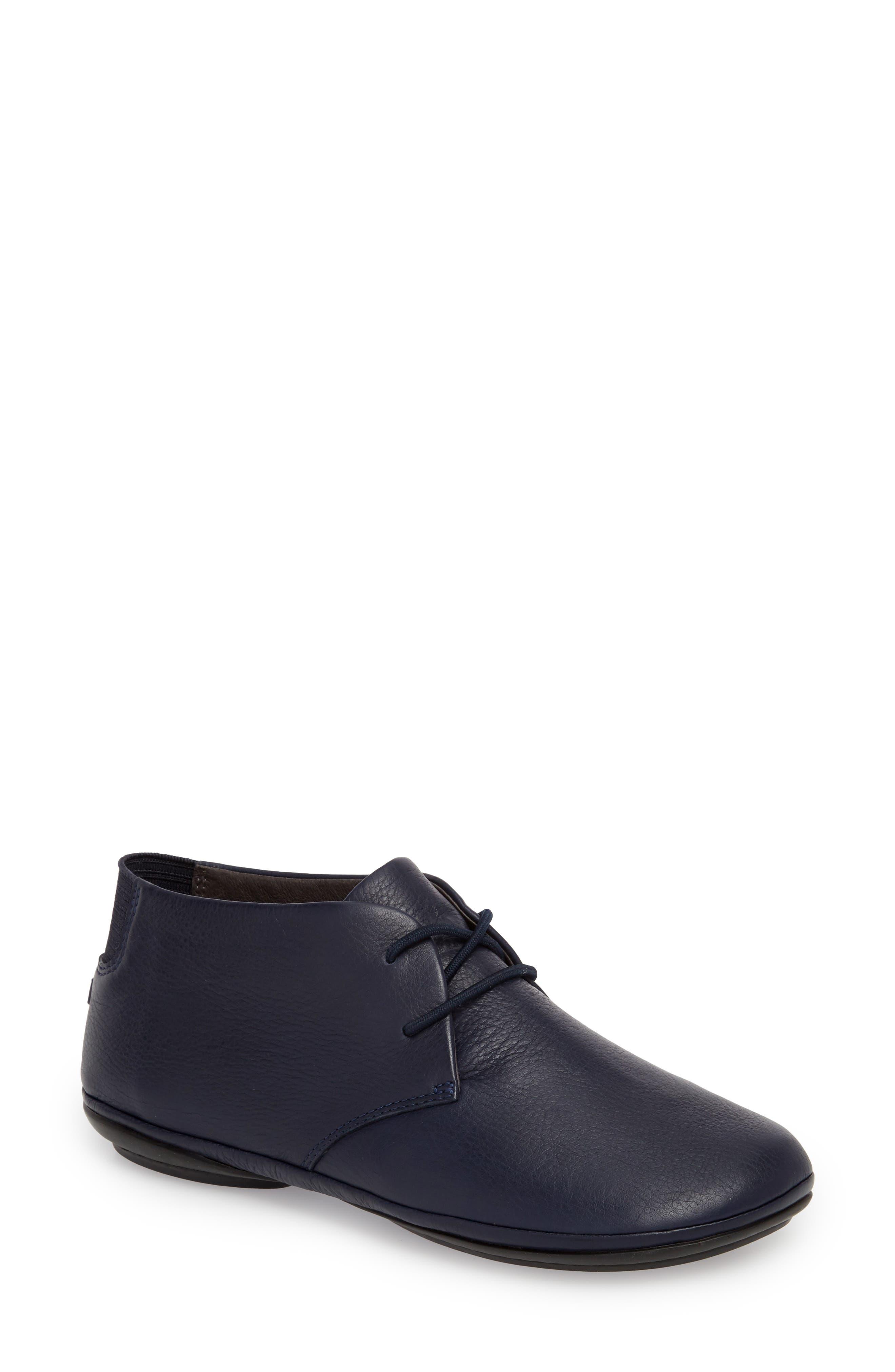 Right Nina Desert Boot, Navy Leather