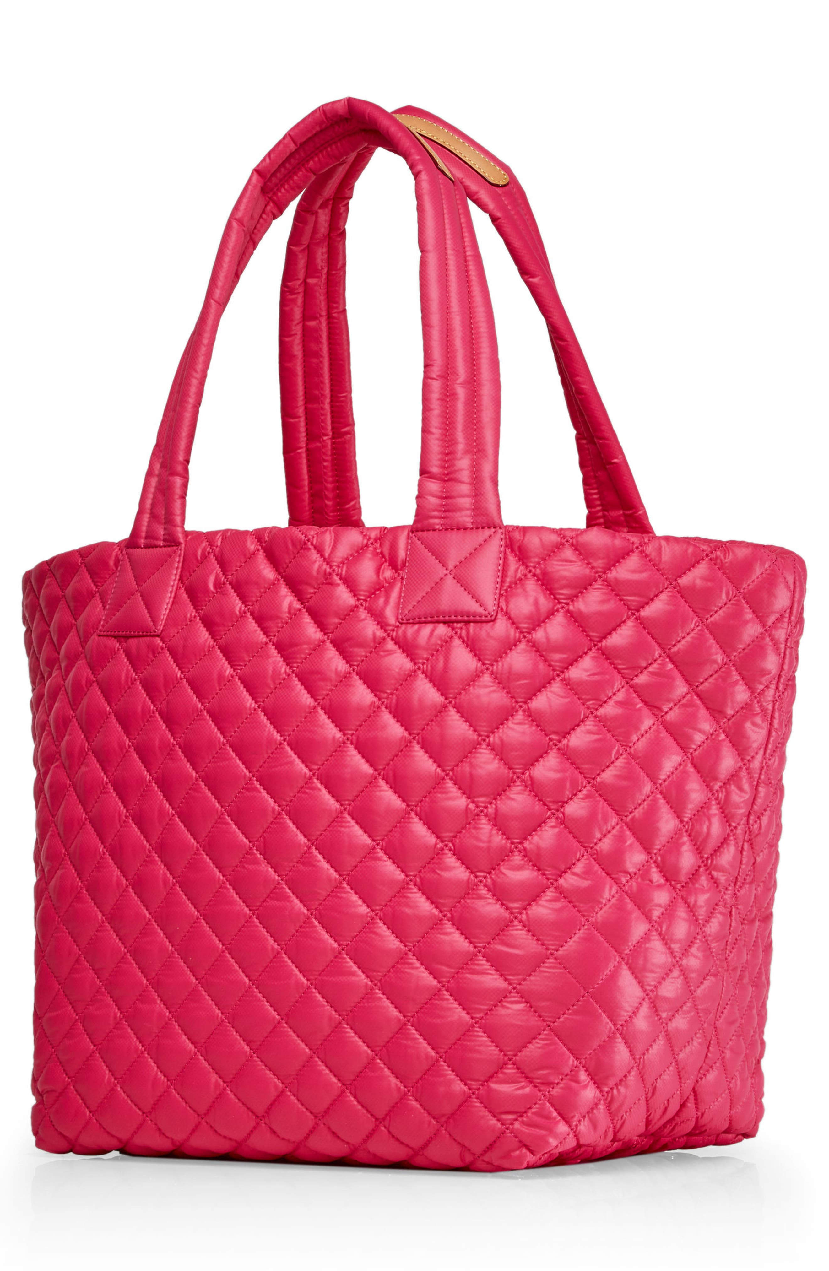 'Medium Metro' Quilted Lacquer Tote,                             Alternate thumbnail 2, color,                             Dragon Fruit