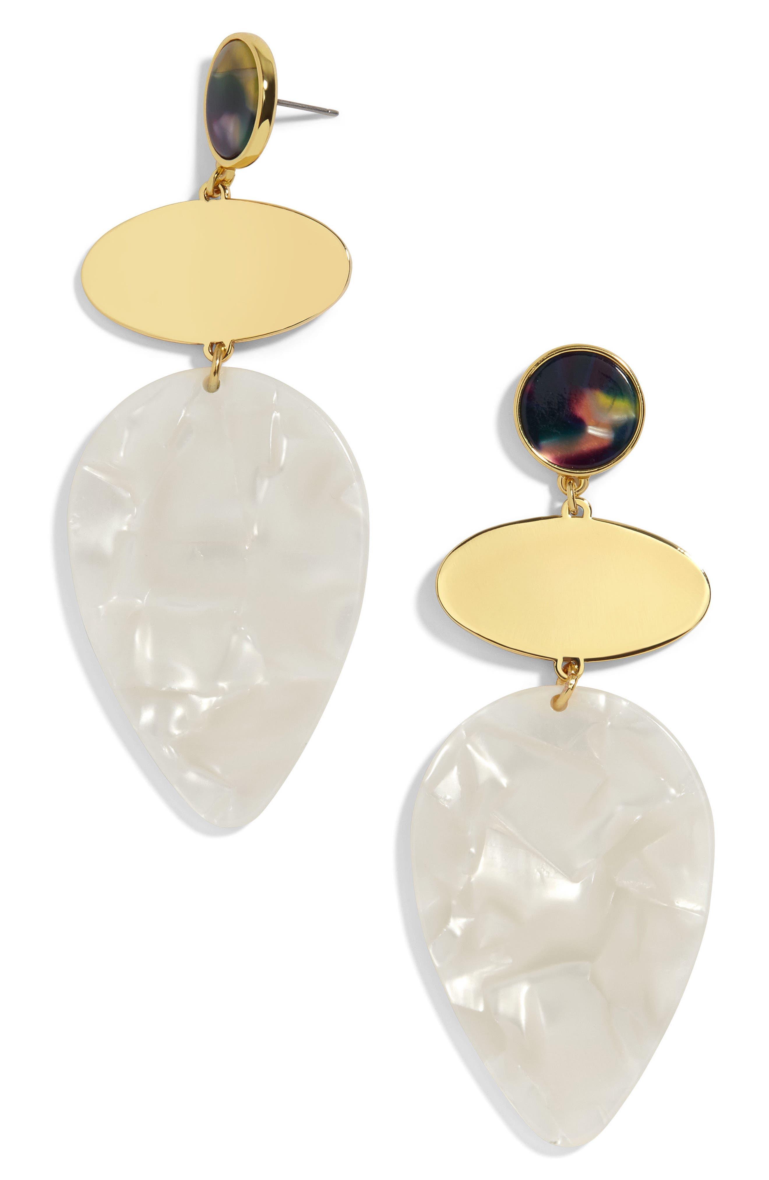 Fareena Drop Earrings,                             Main thumbnail 1, color,                             White