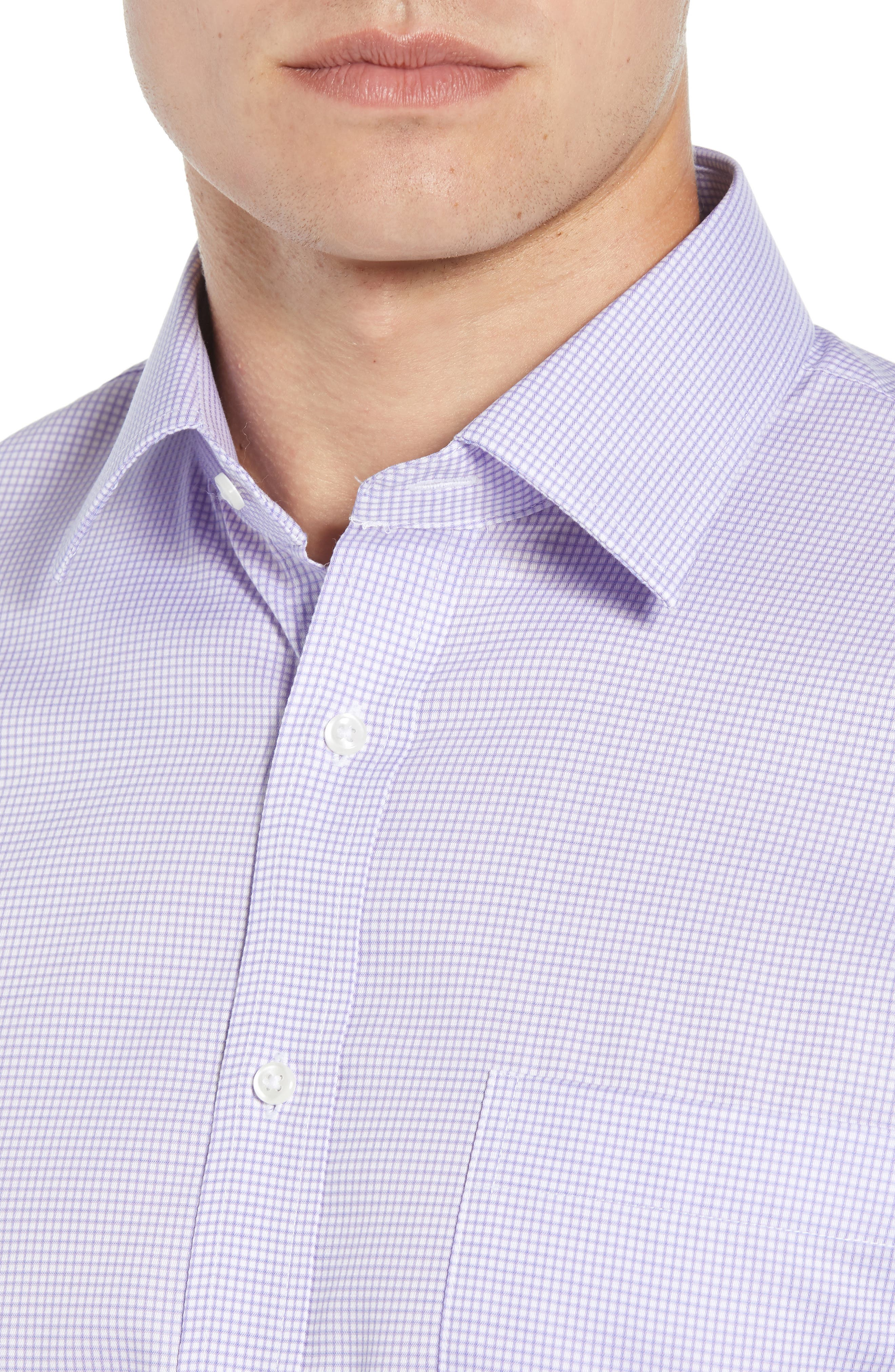 Traditional Fit Check Dress Shirt,                             Alternate thumbnail 2, color,                             Purple Chalk