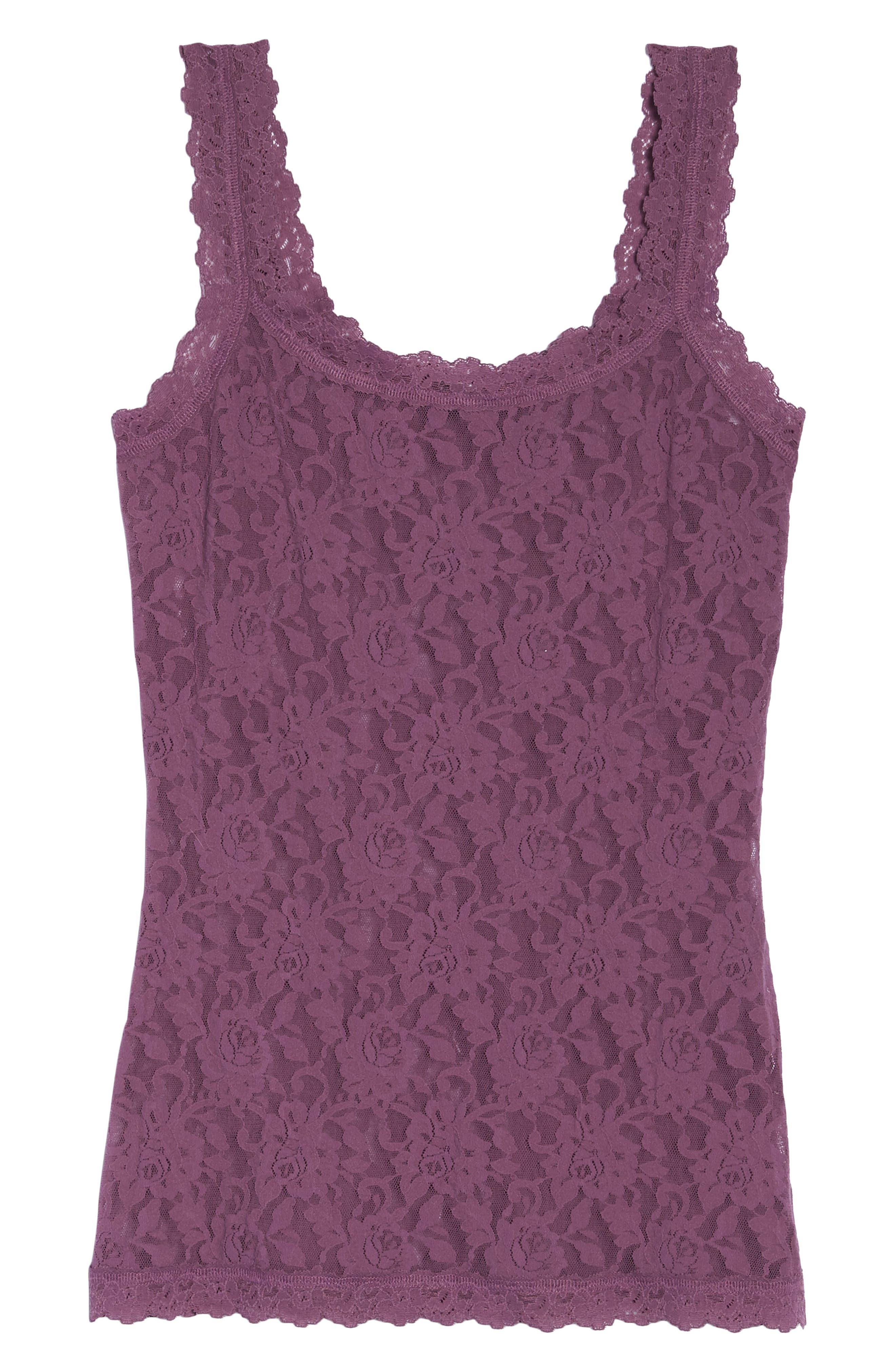 'Signature Lace' Camisole,                             Alternate thumbnail 7, color,                             Valiant Purple