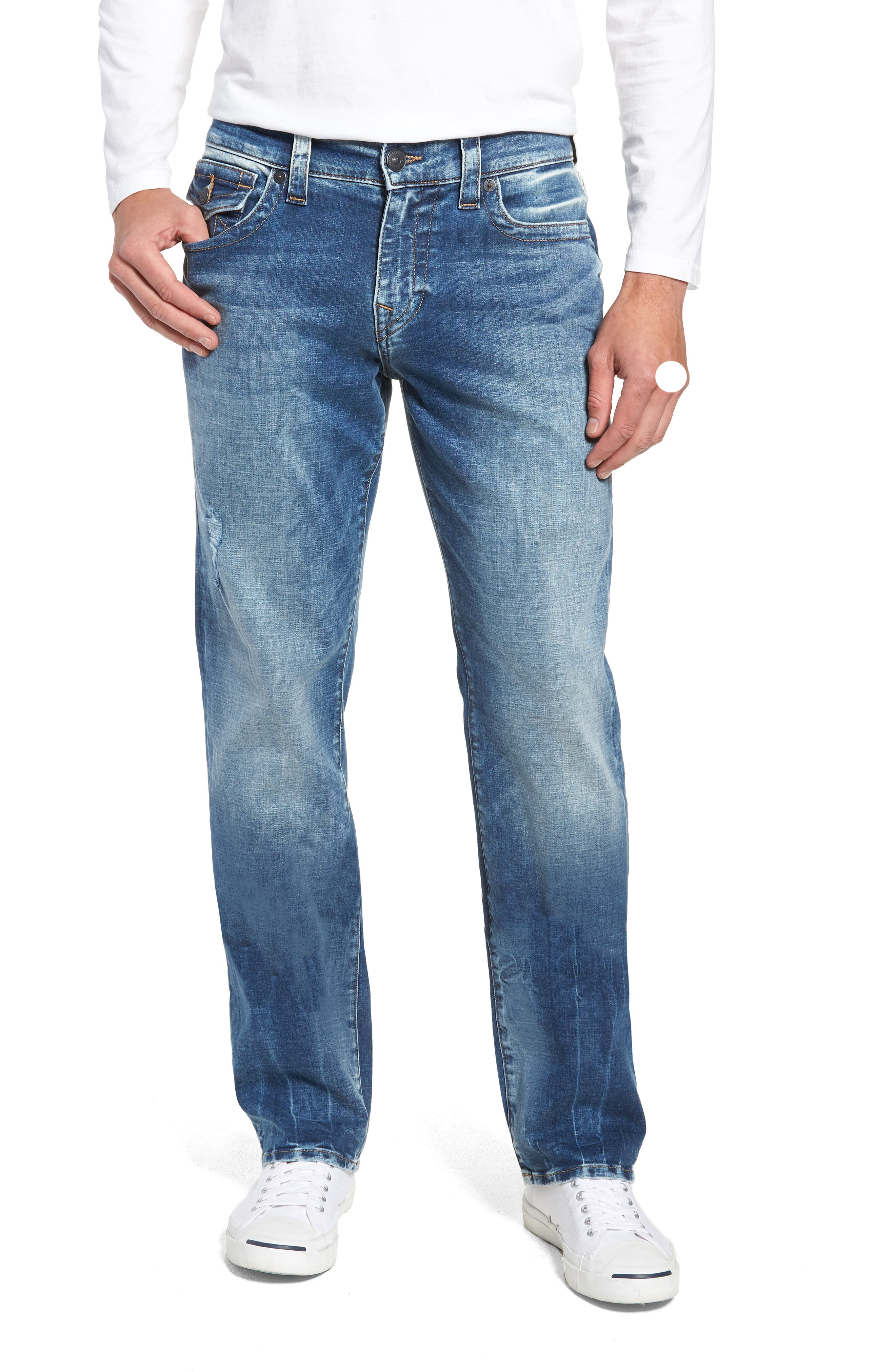 Ricky Relaxed Fit Jeans,                         Main,                         color, Static Blue