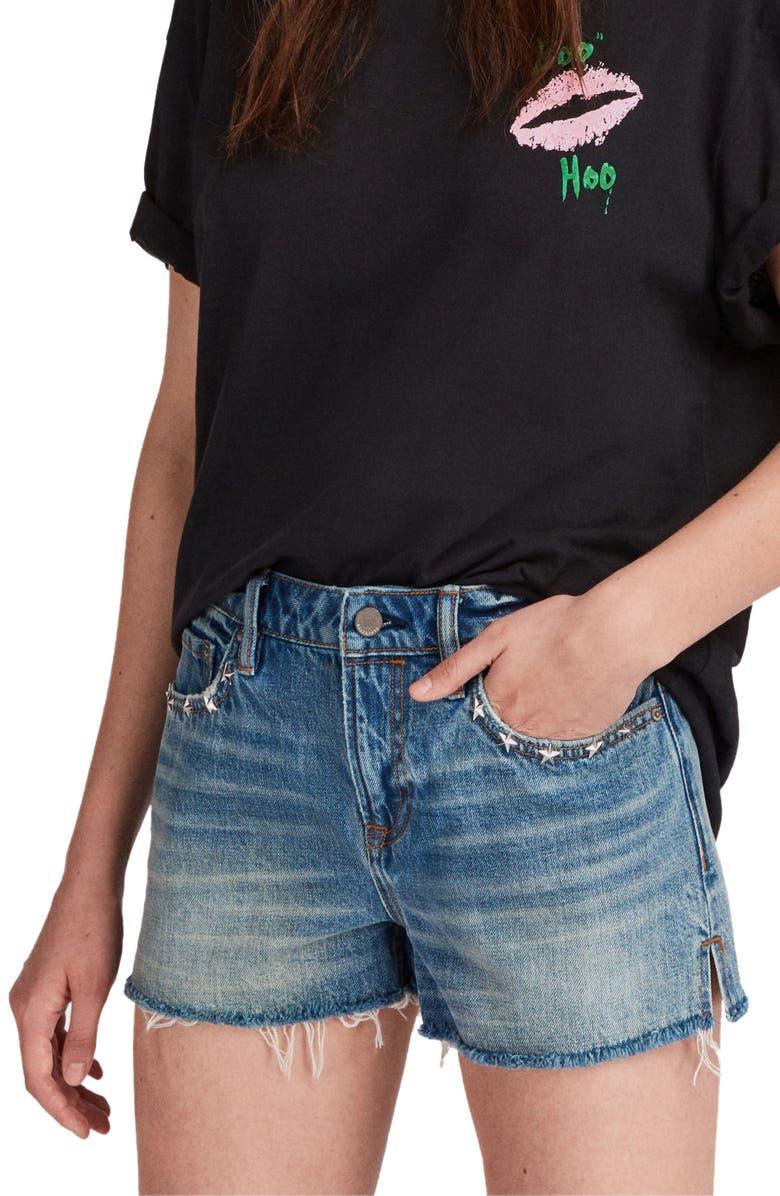 Star Cutoff Denim Shorts