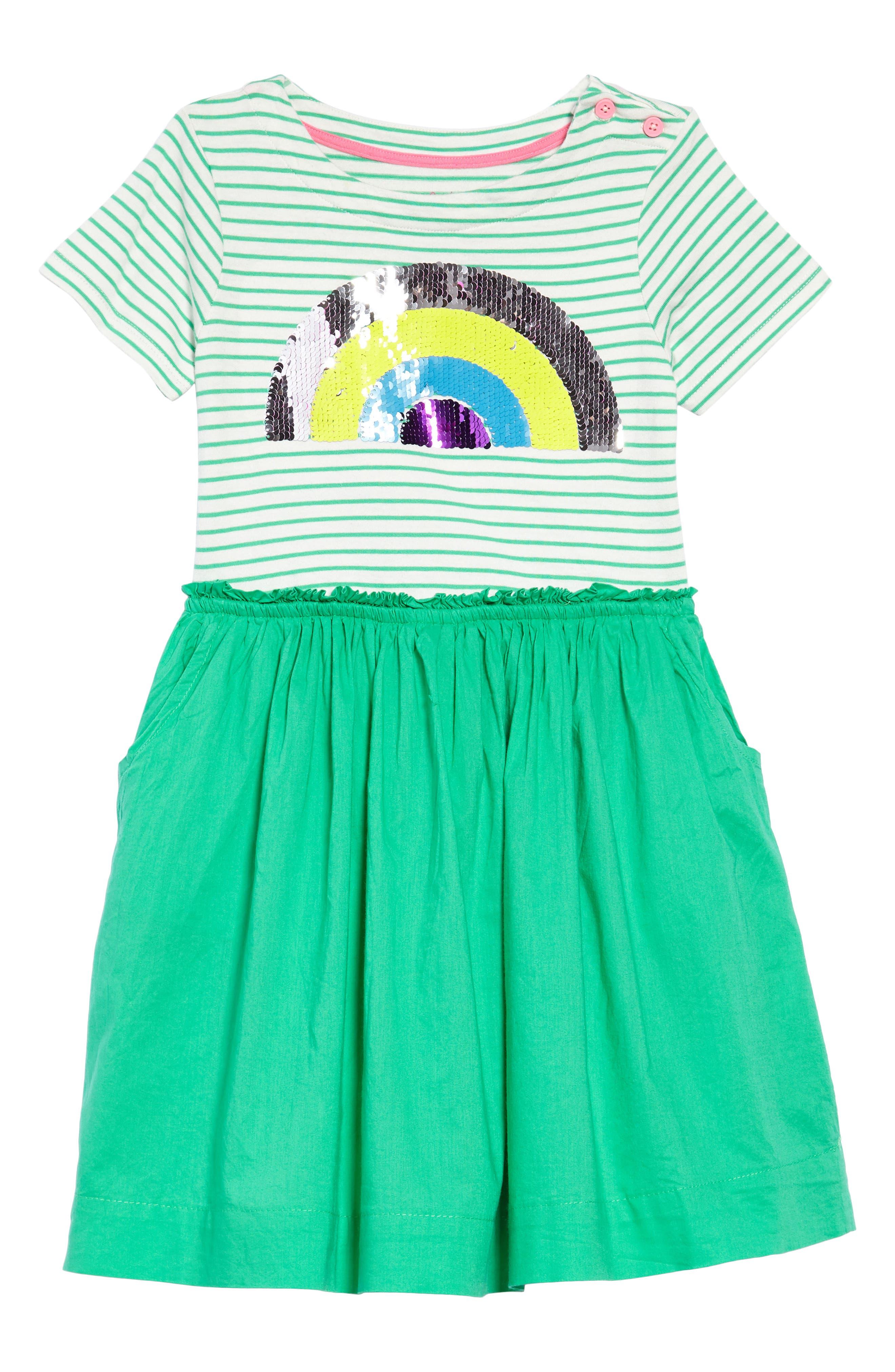 Flip-Sequin Dress,                         Main,                         color, Grnpeppermint Green Rainbow