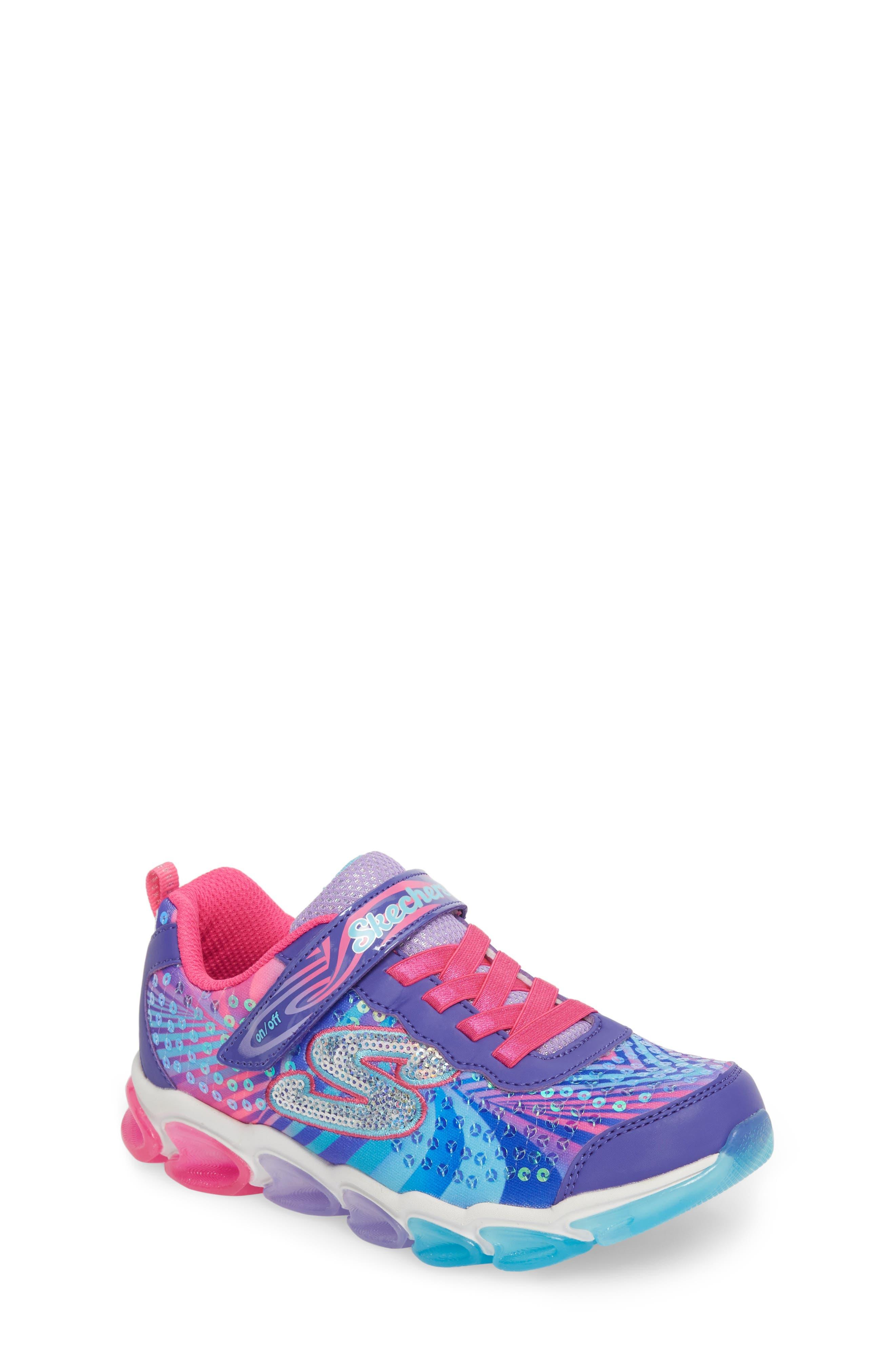 Jelly Beams Light-Up Sneaker,                             Main thumbnail 1, color,                             Purple/ Multi