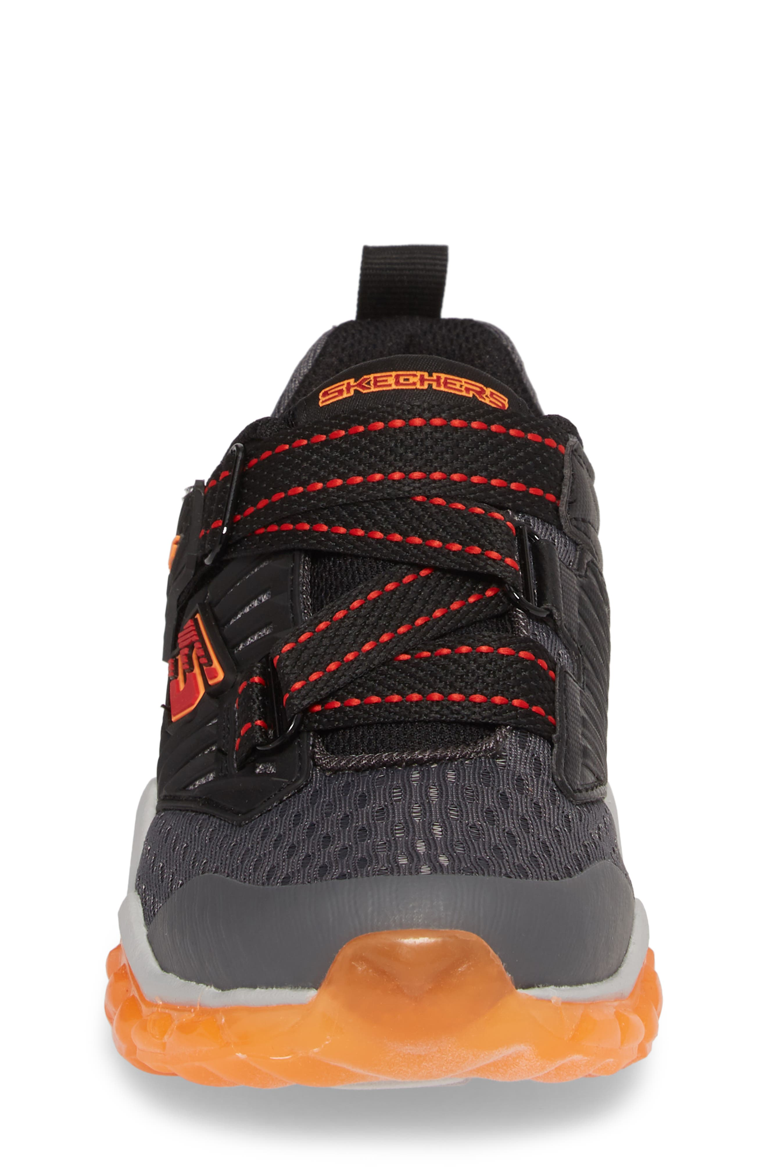 Rapid Flash Light-Up Sneaker,                             Alternate thumbnail 5, color,                             Charcoal/ Red