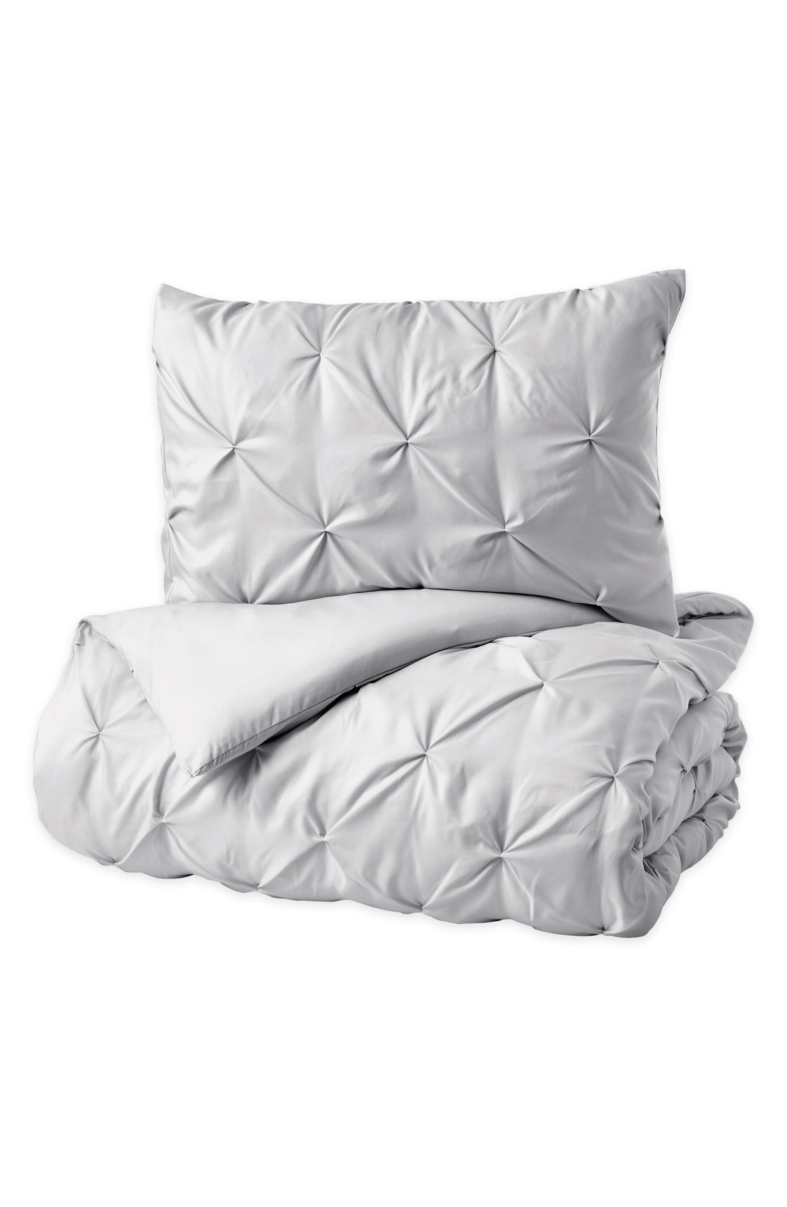 Comforter & Sham Set,                             Alternate thumbnail 3, color,                             Grey