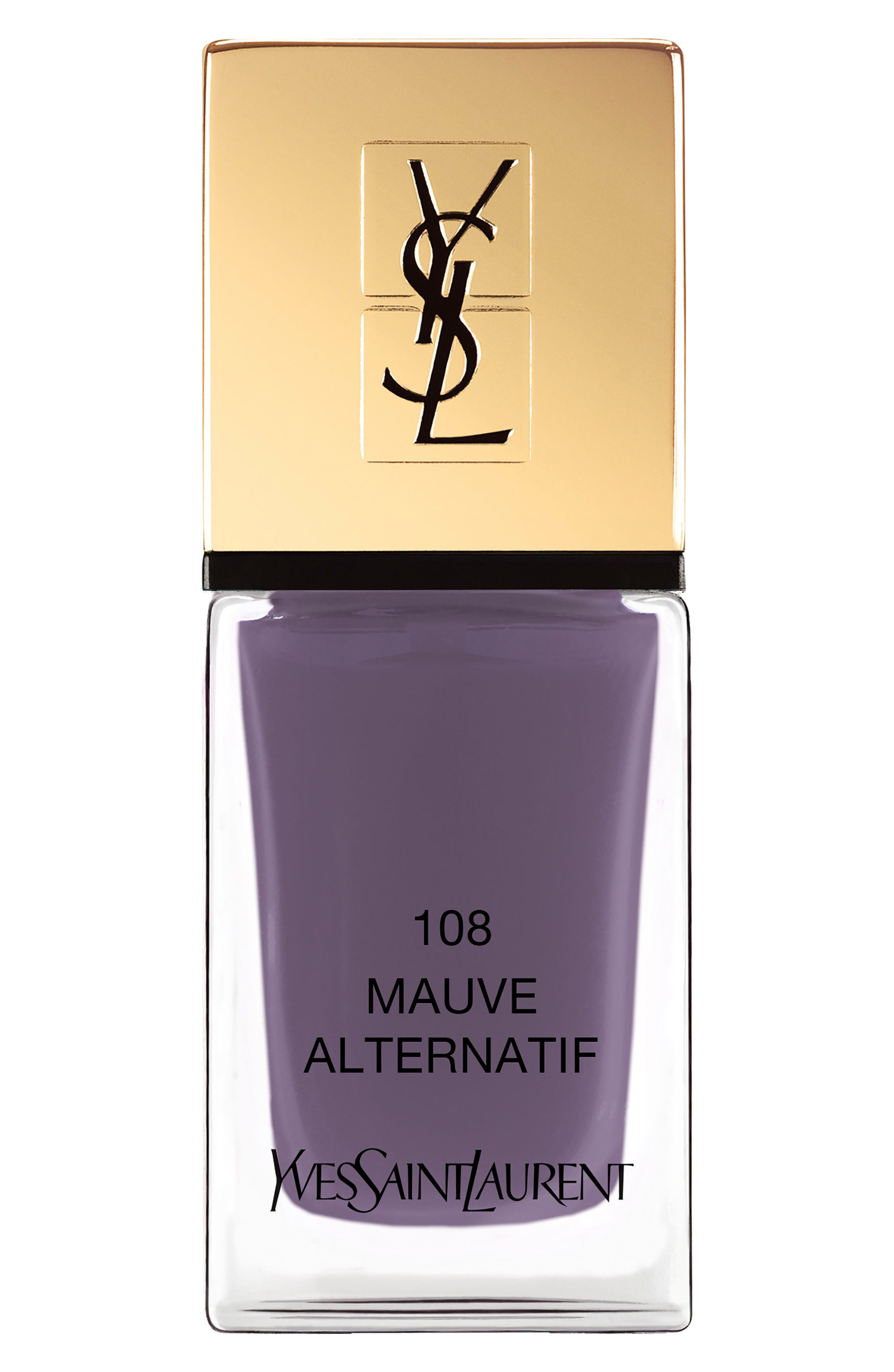 'La Laque Couture' Nail Lacquer,                             Main thumbnail 1, color,                             108 Mauve Alternatif
