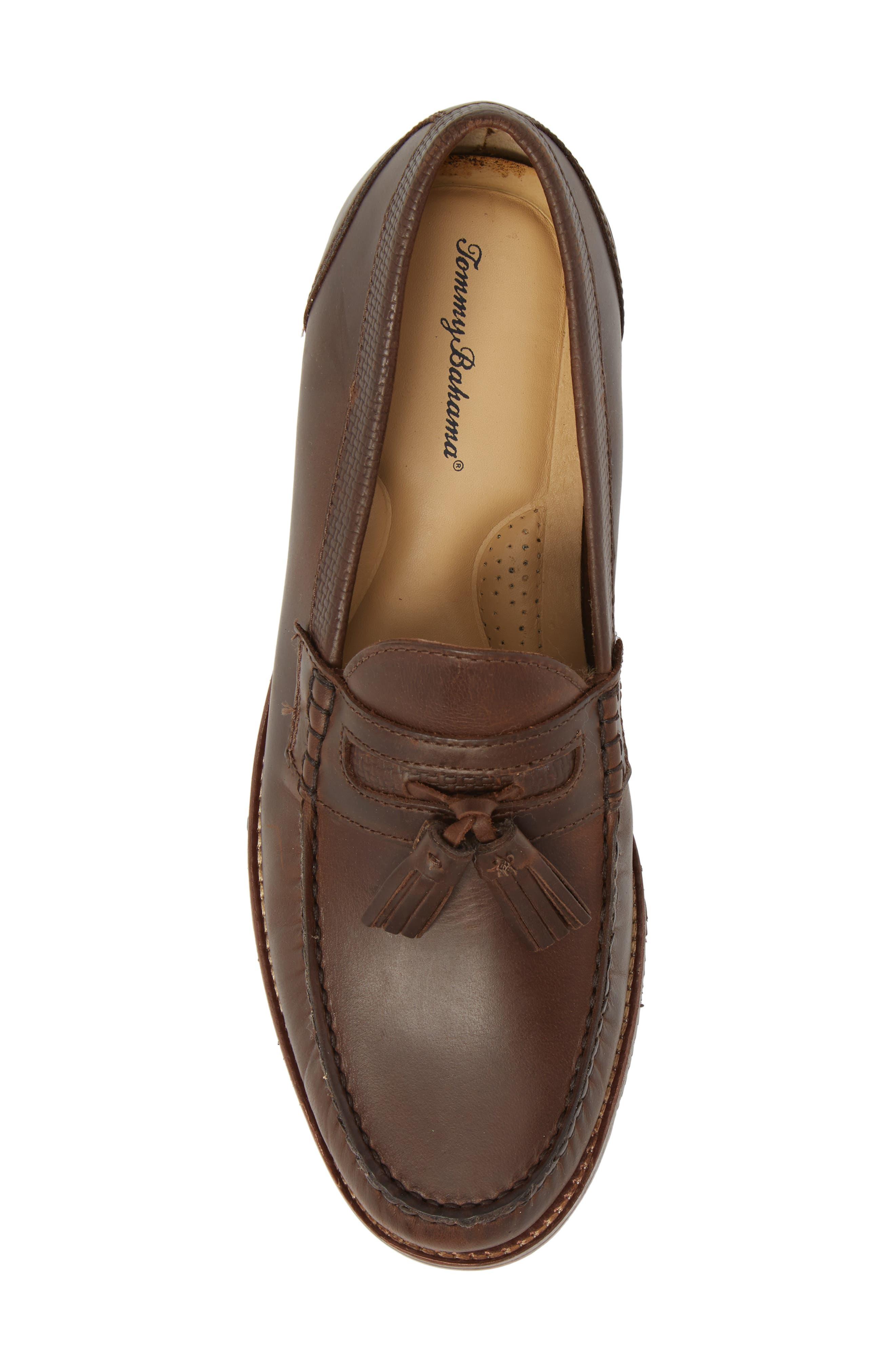 Tasslington Loafer,                             Alternate thumbnail 3, color,                             Dark Brown Leather