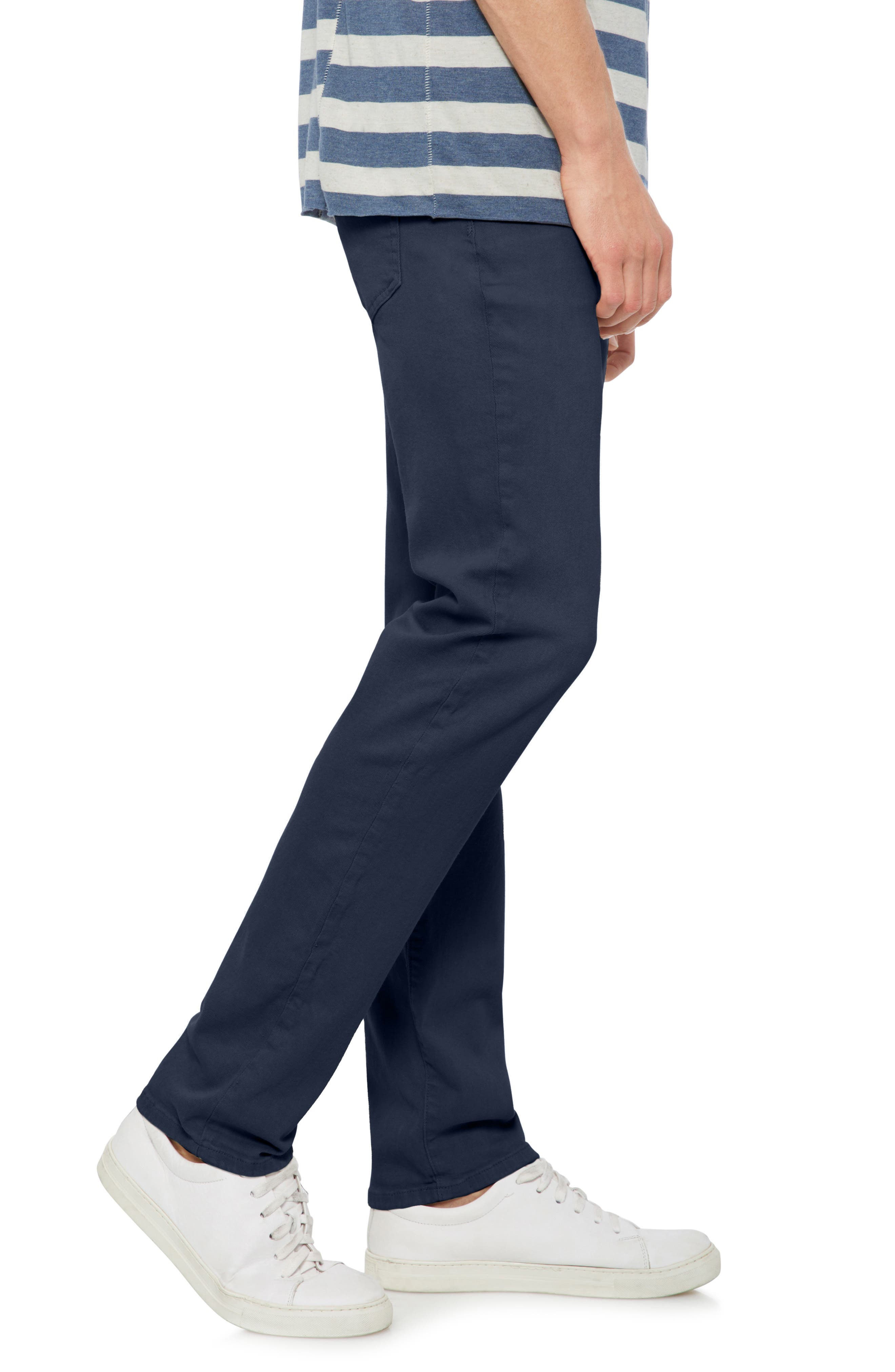 Brixton Slim Straight Leg Jeans,                             Alternate thumbnail 3, color,                             Navy