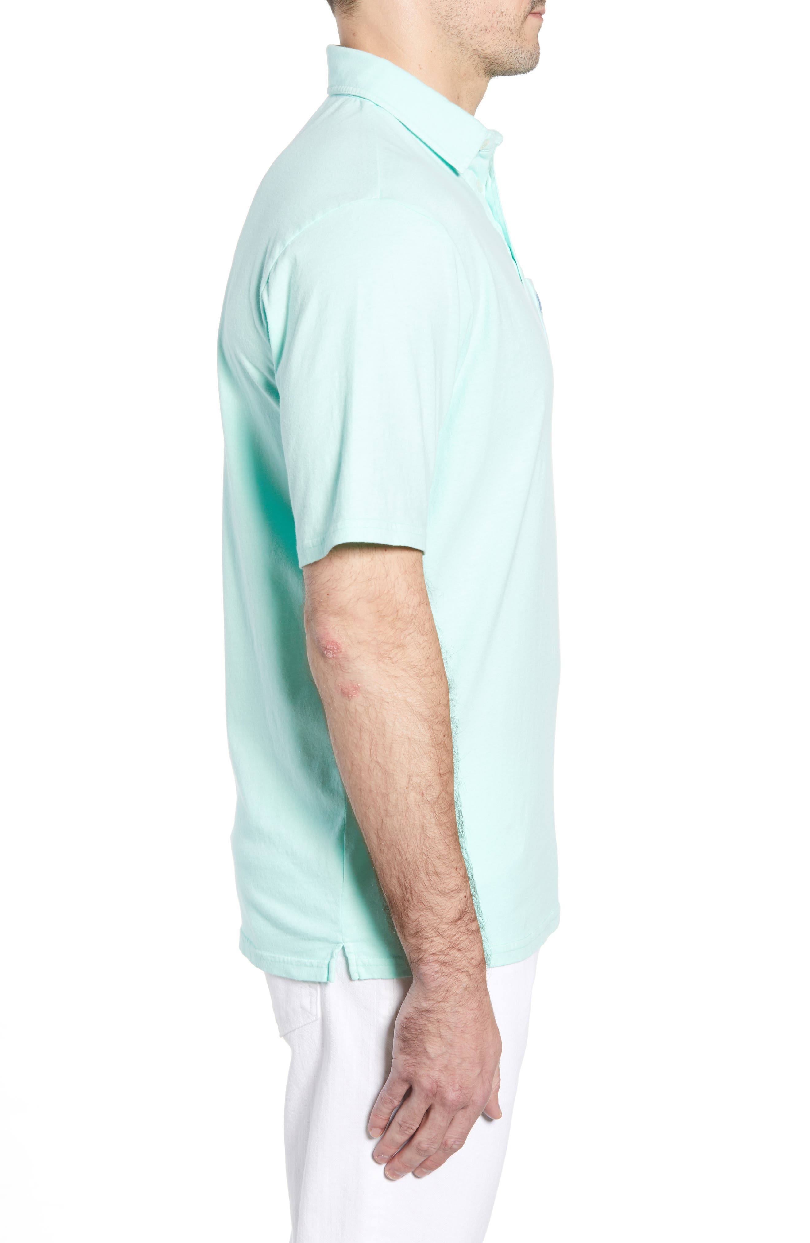 Original Regular Fit Garment Dyed Polo,                             Alternate thumbnail 5, color,                             Fern