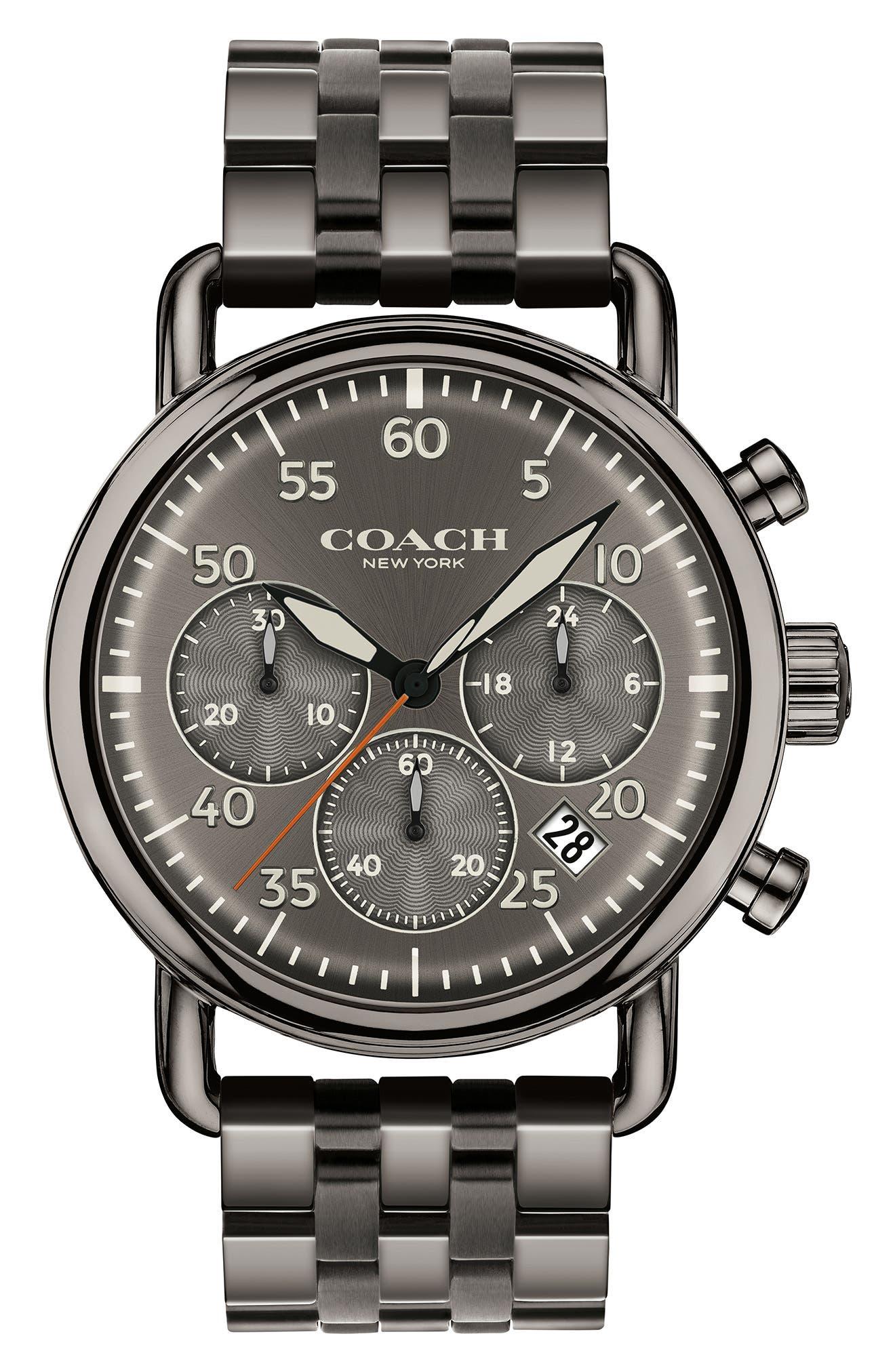 Delancey Sport Chronograph Bracelet Watch, 42mm,                             Main thumbnail 1, color,                             Gunmetal