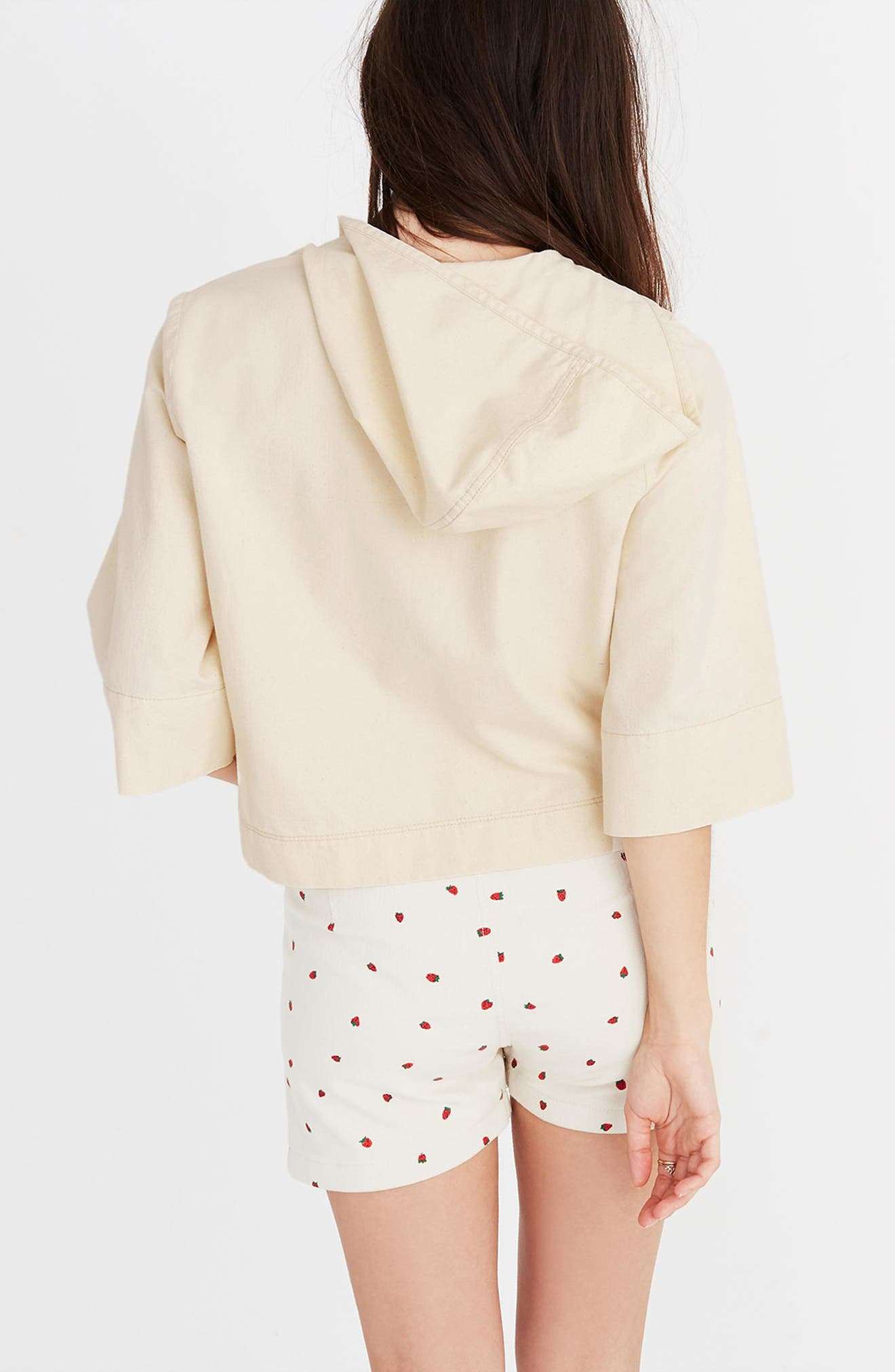 Hooded Popover Top,                             Alternate thumbnail 2, color,                             Canvas