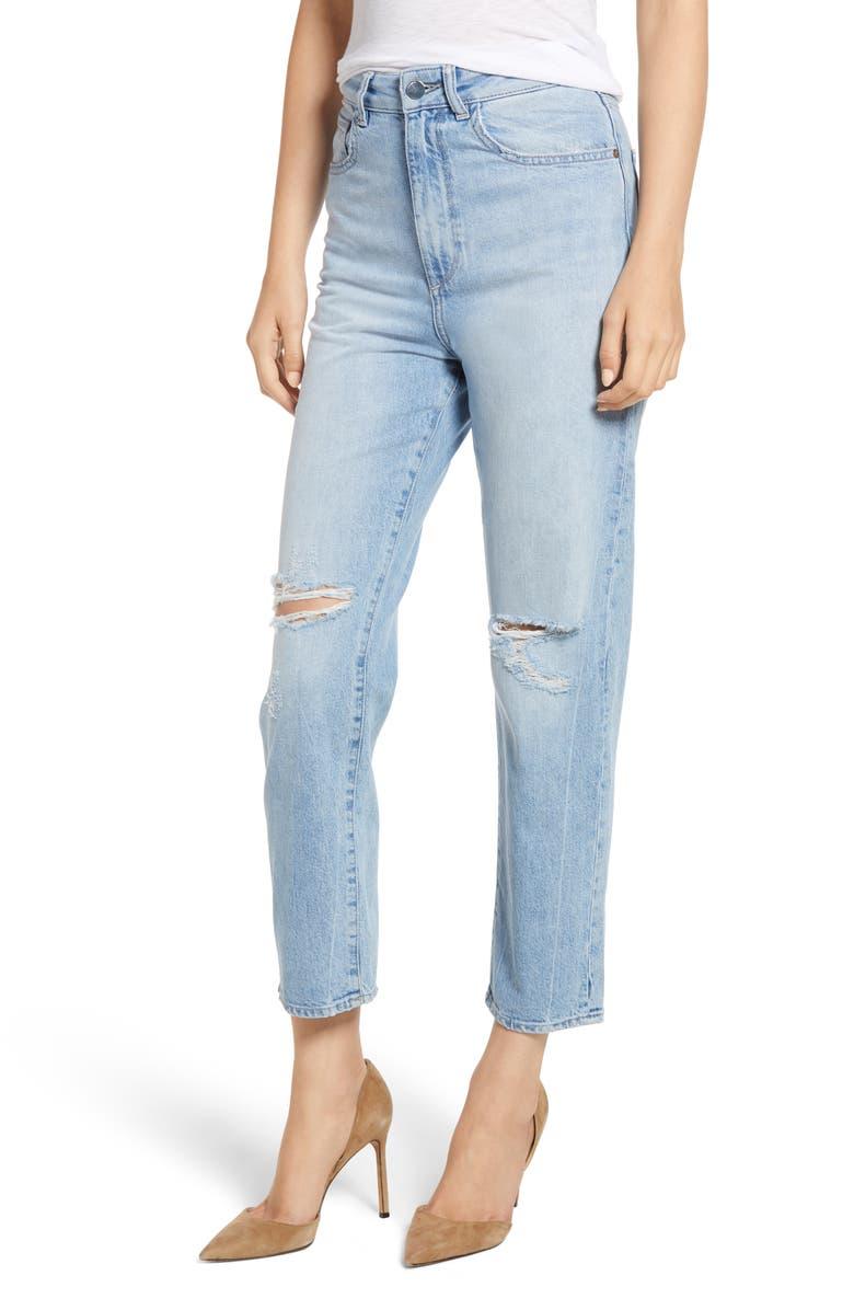 Susie High Waist Tapered Crop Slim Jeans