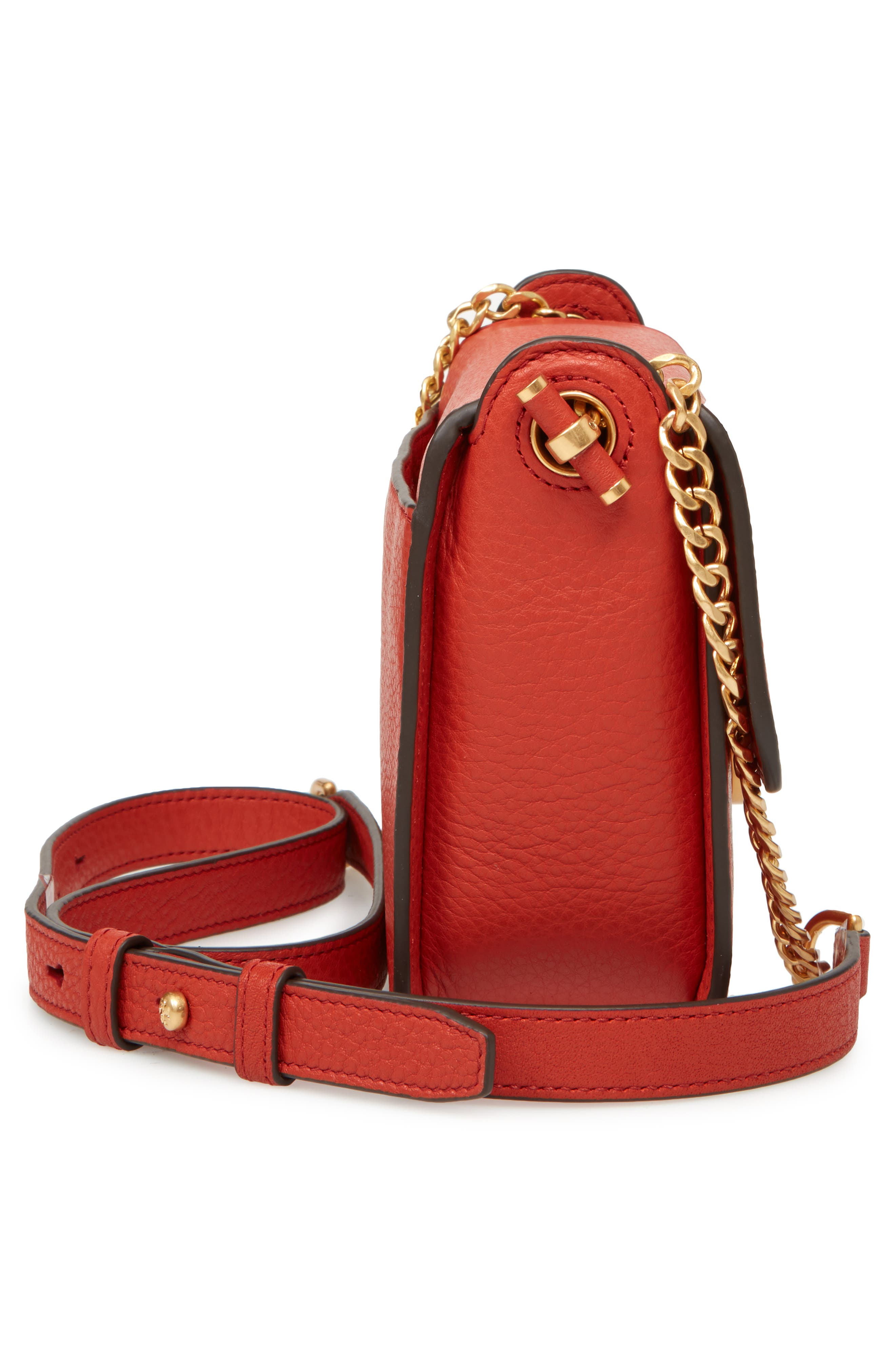 Chelsea Leather Crossbody Bag,                             Alternate thumbnail 4, color,                             Kola