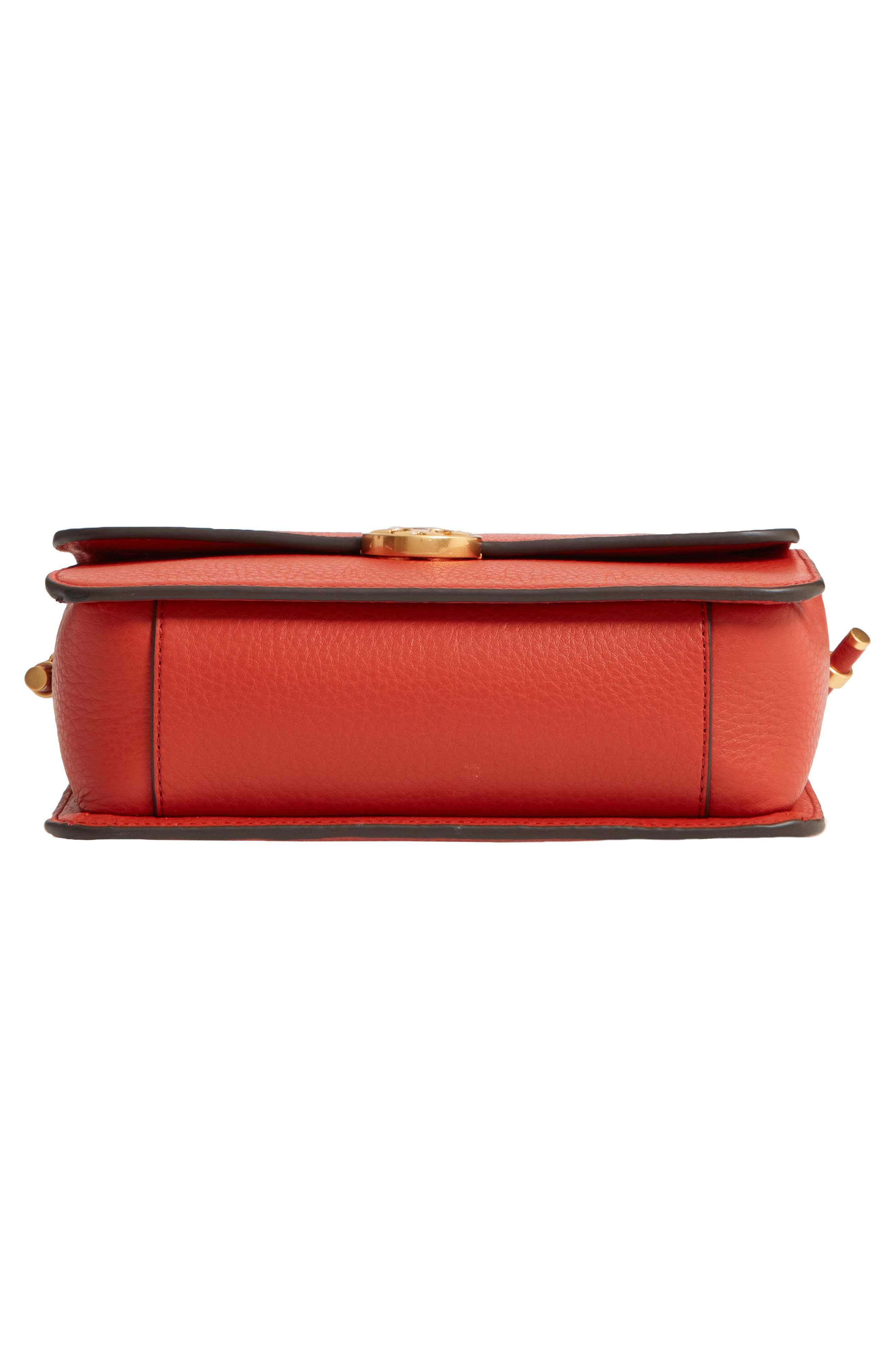 Chelsea Leather Crossbody Bag,                             Alternate thumbnail 5, color,                             Kola