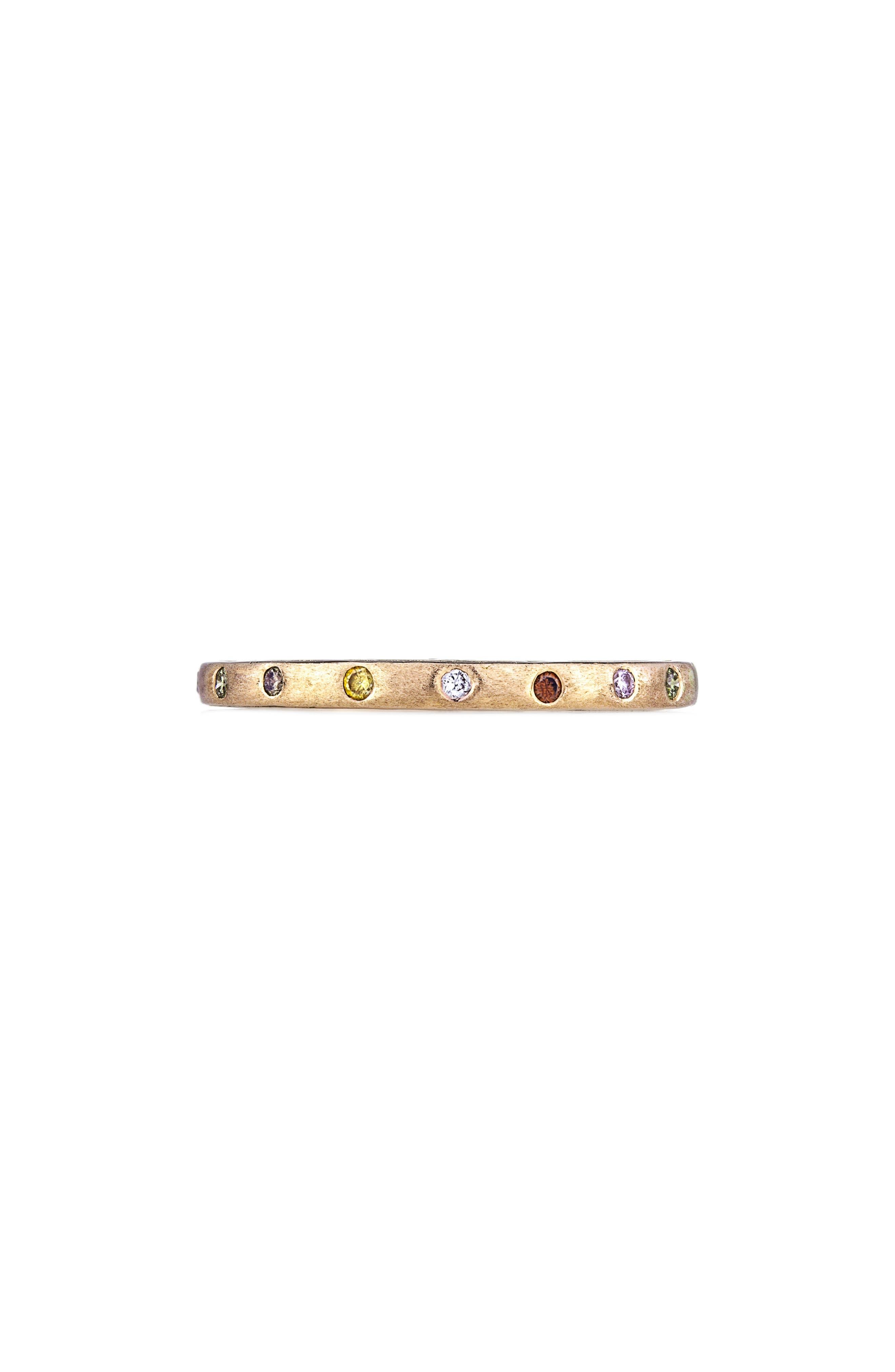 SETHI COUTURE DUNES DIAMOND STACKING BAND RING