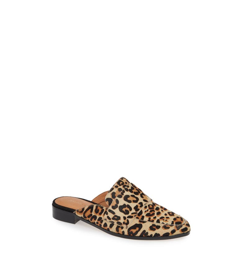 Violet Genuine Calf Hair Mule,                         Main,                         color, Leopard Calf Hair