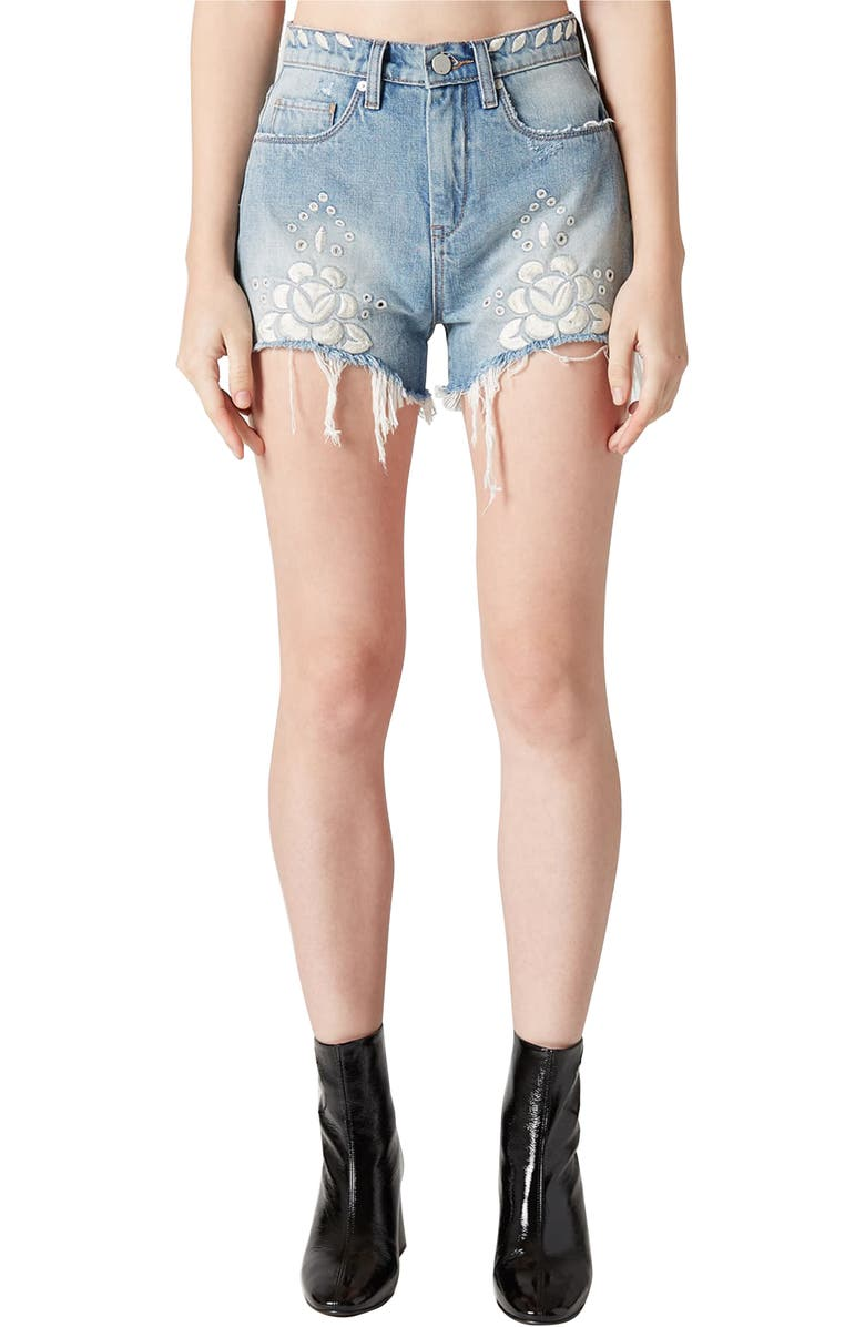 The Barrow Embroidered Denim Shorts