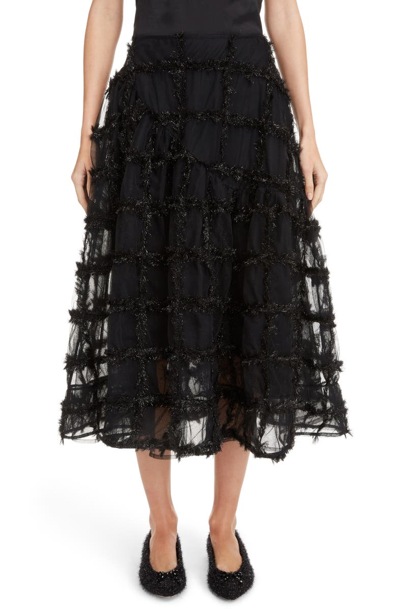 Tinsel Check Tulle Skirt