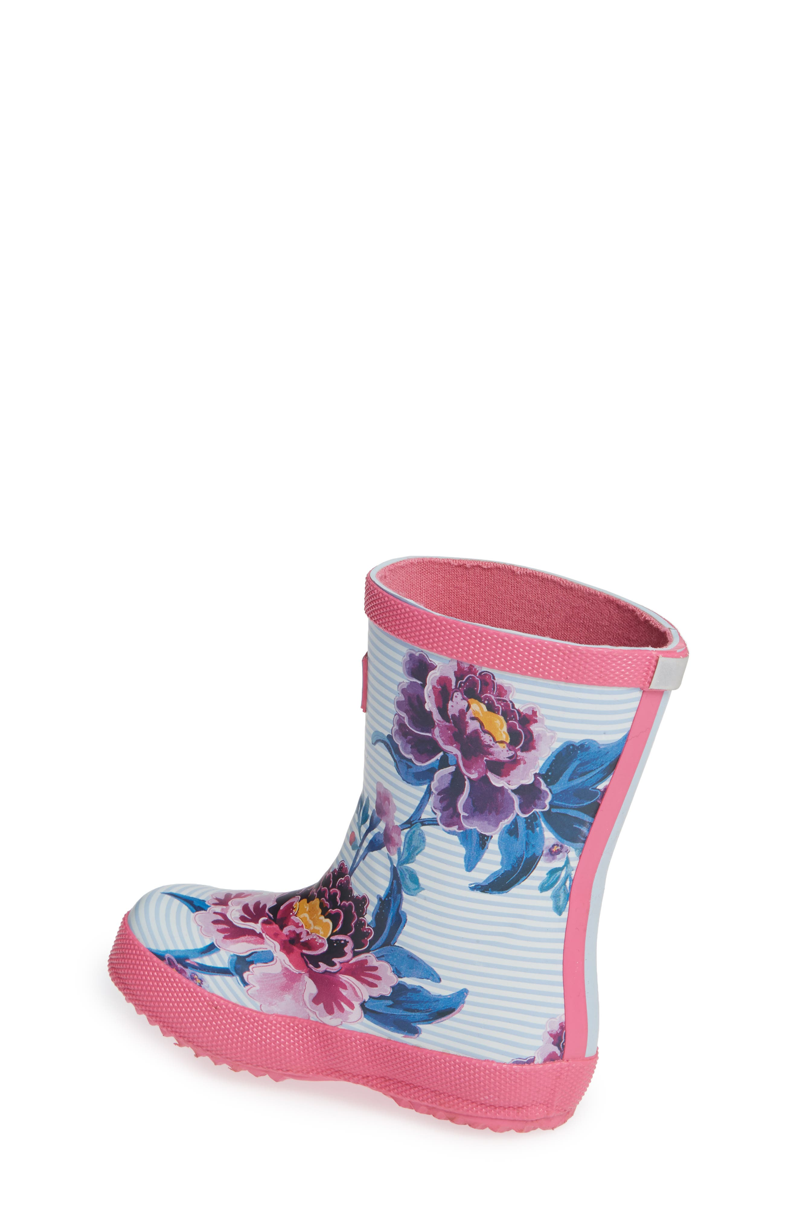 Baby Welly Print Waterproof Boot,                             Alternate thumbnail 2, color,                             Sky Blue Chinoiserie Floral