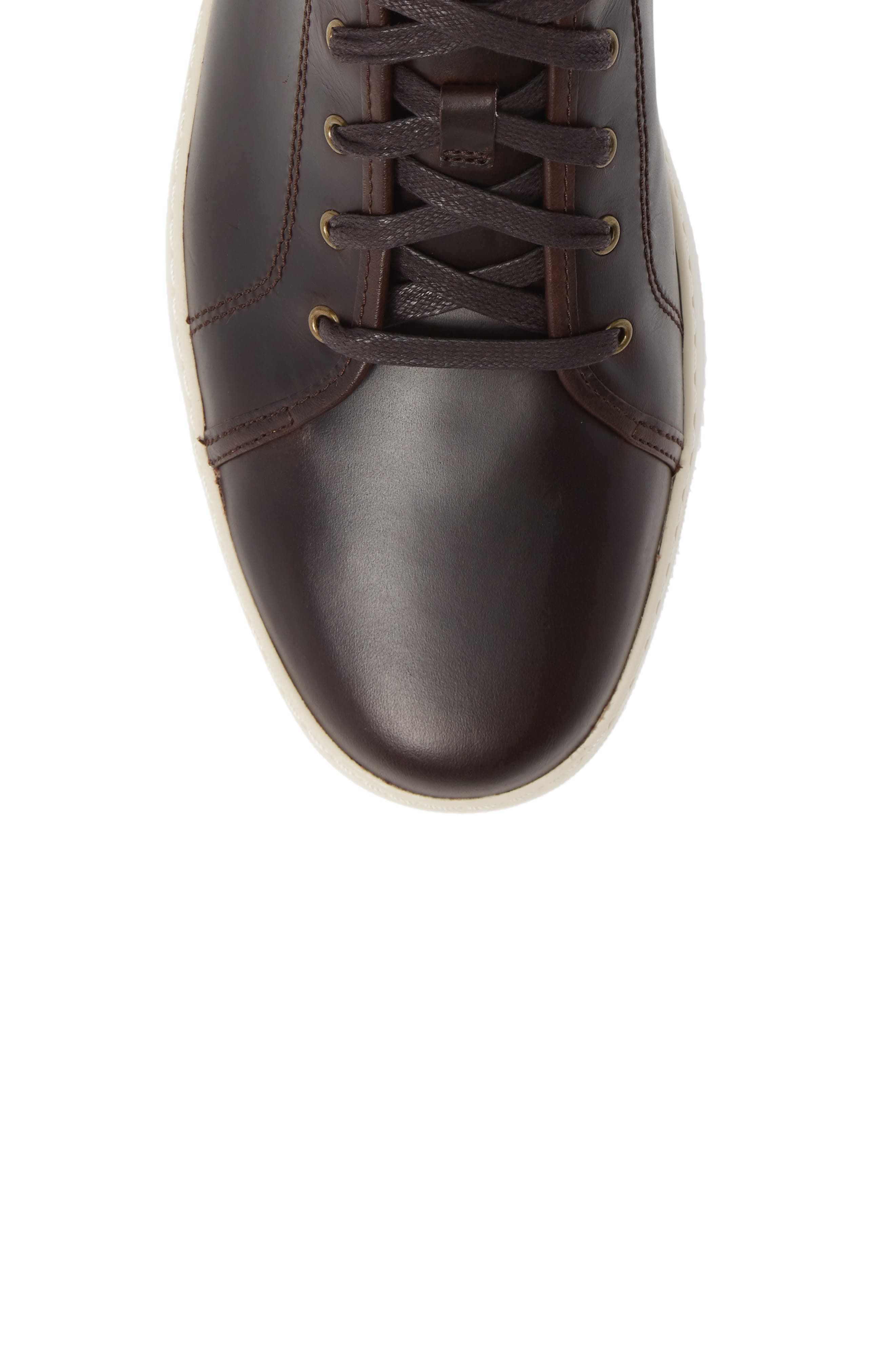 Christophe Low Top Sneaker,                             Alternate thumbnail 3, color,                             Dark Oxblood