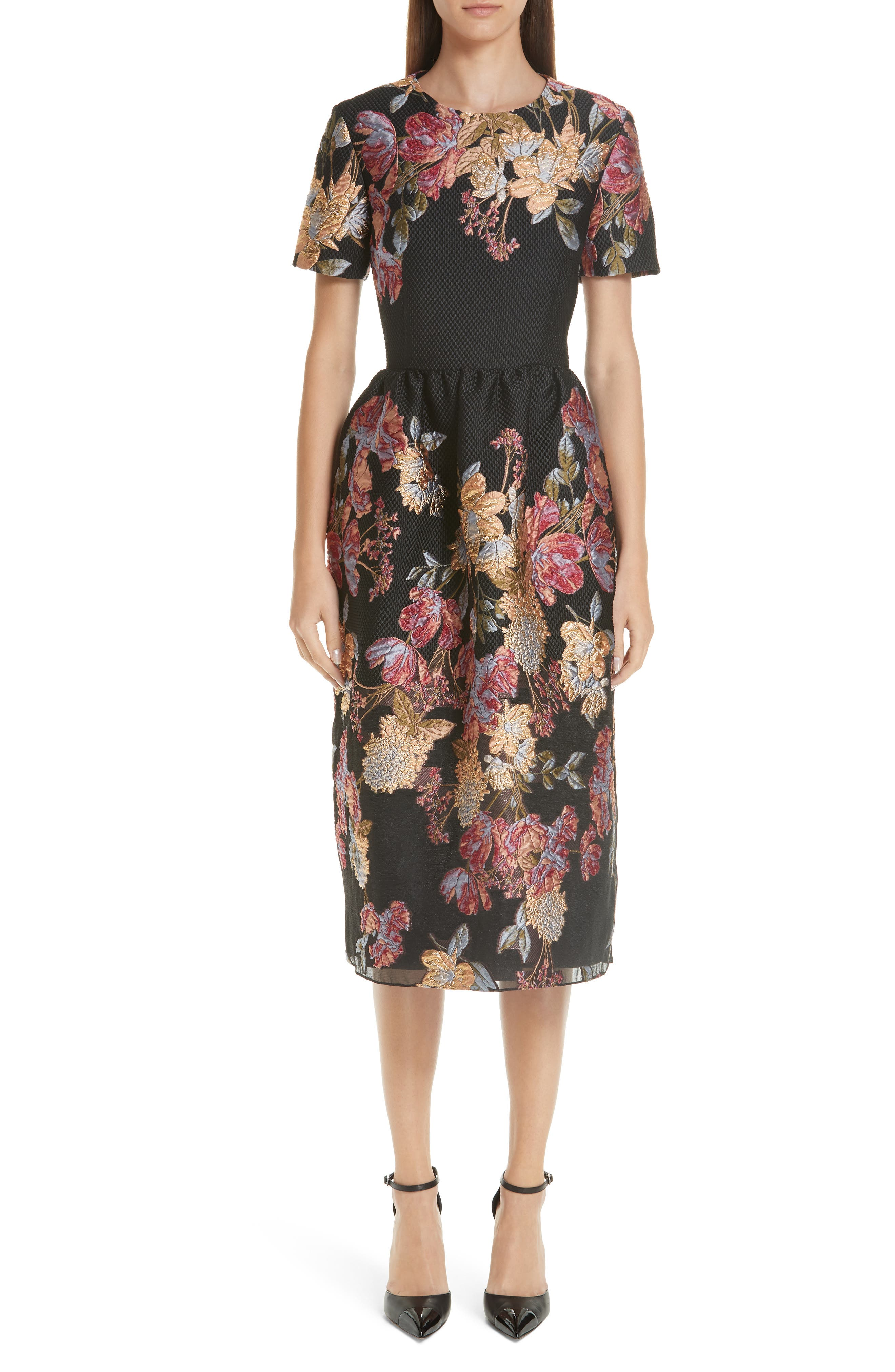 Habitat Fit & Flare Dress,                         Main,                         color, Black