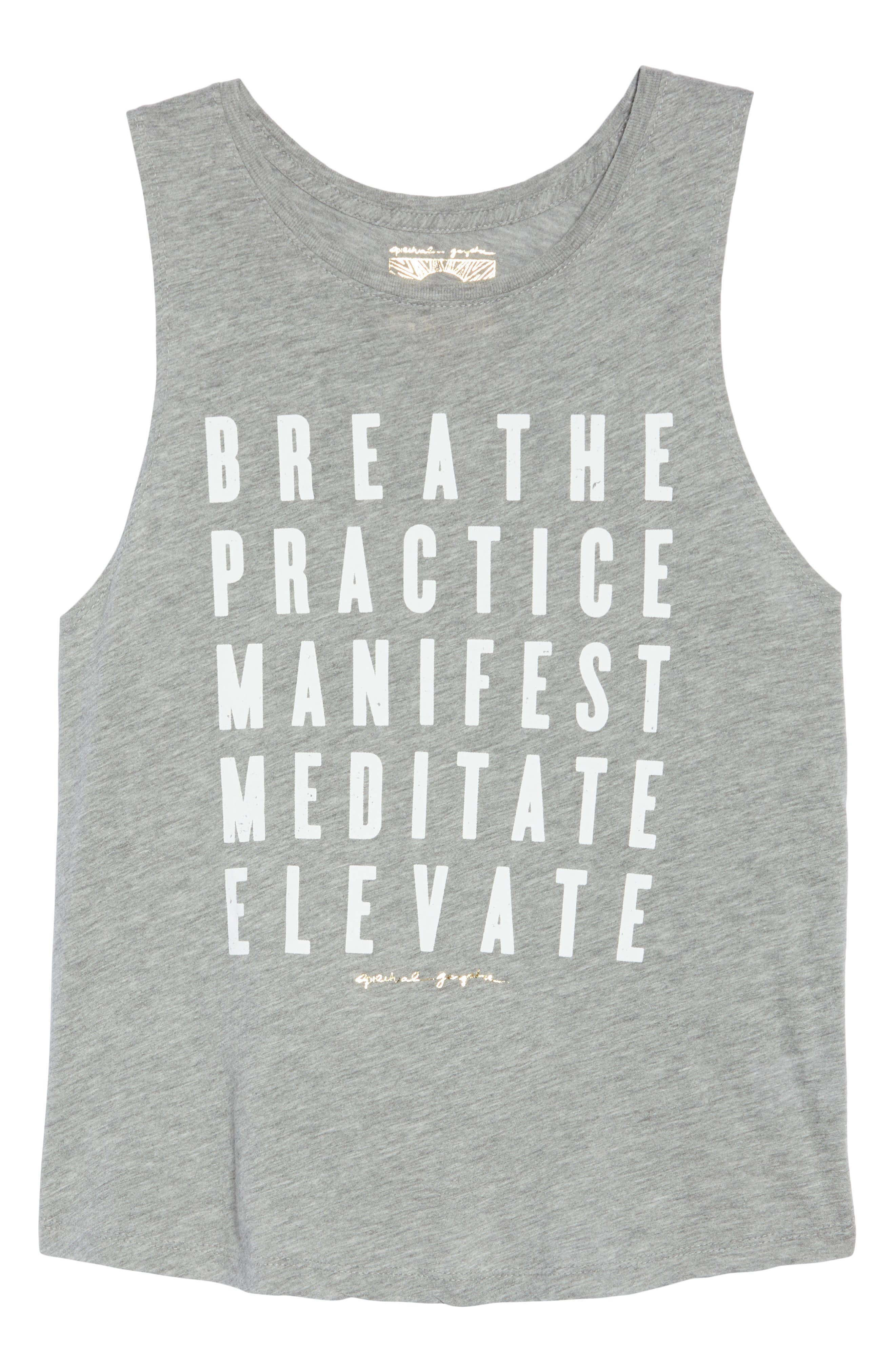 Proactive Muscle Tank Top,                             Alternate thumbnail 7, color,                             Hthr Grey