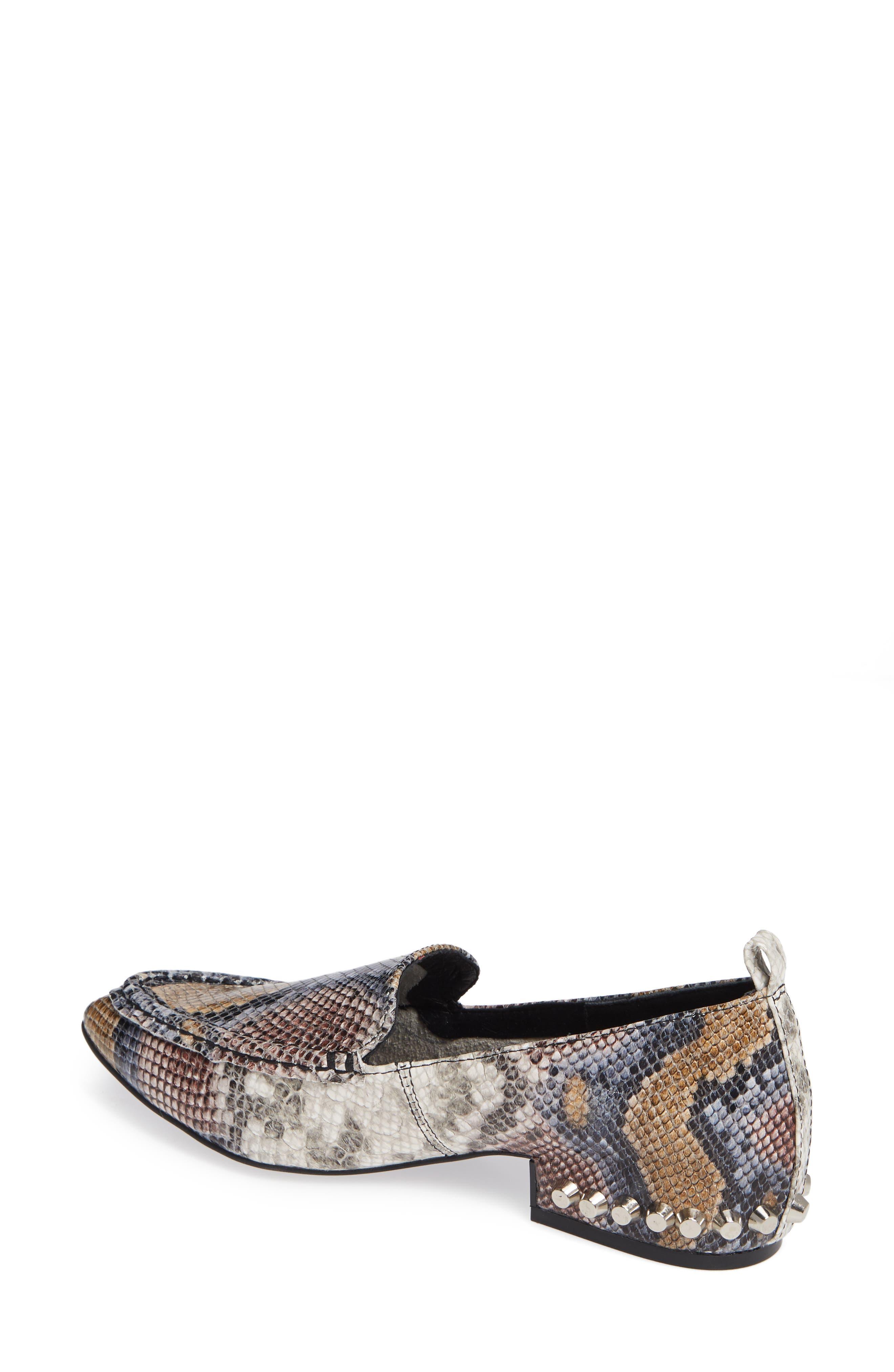 Barnett Studded Loafer,                             Alternate thumbnail 2, color,                             Multi Snake Silver