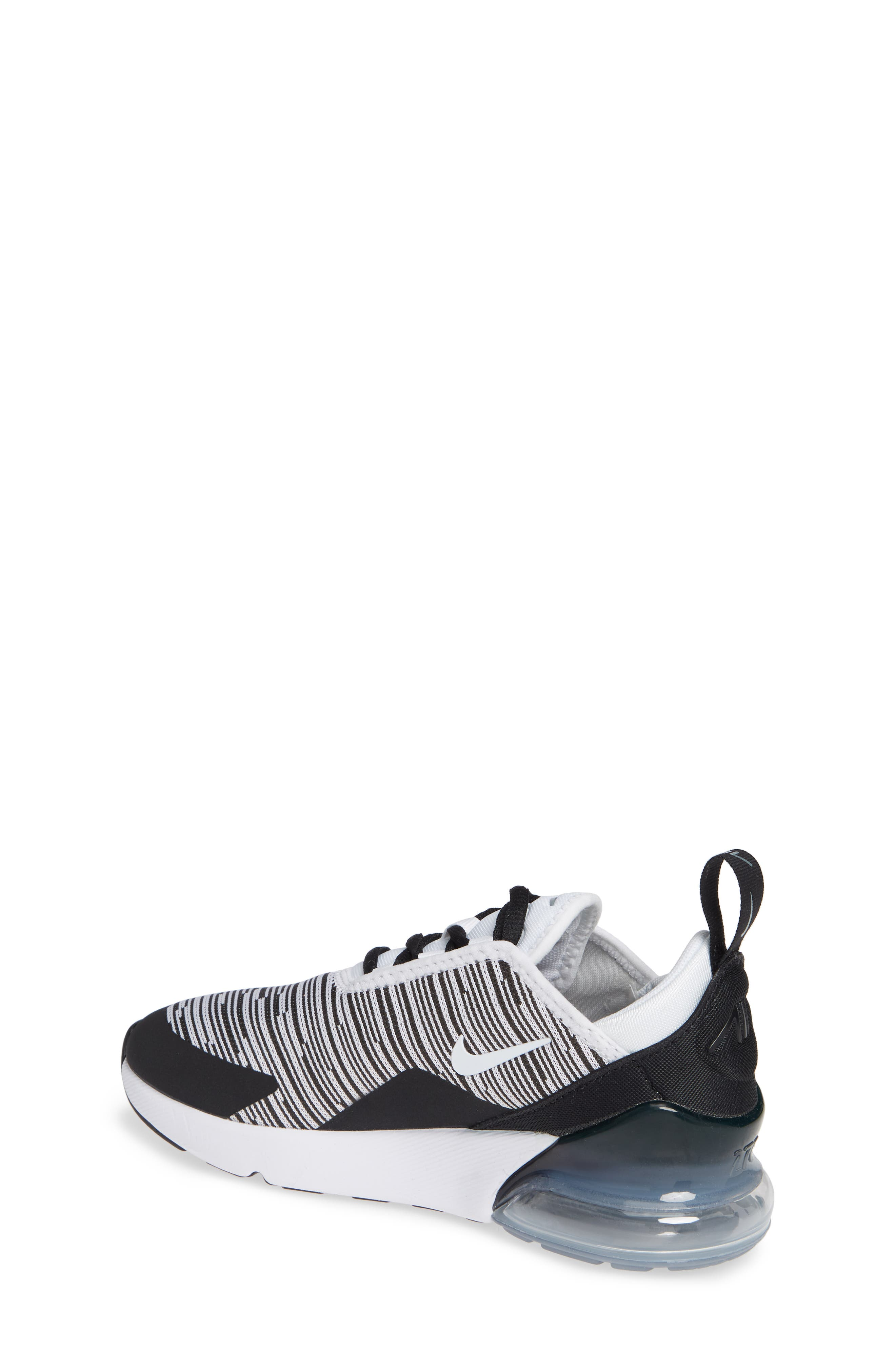 Air Max 270 Sneaker,                             Alternate thumbnail 2, color,                             Black/ White/ Grey/ Silver