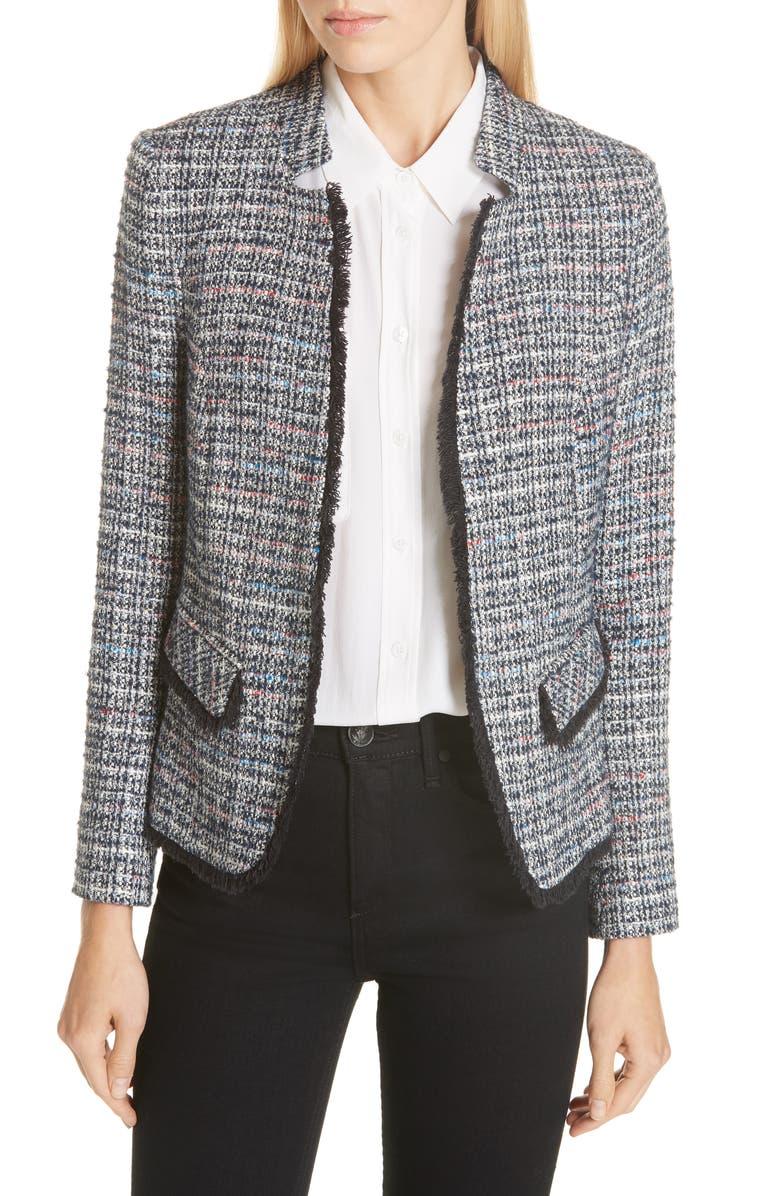 Notch Collar Tweed Jacket