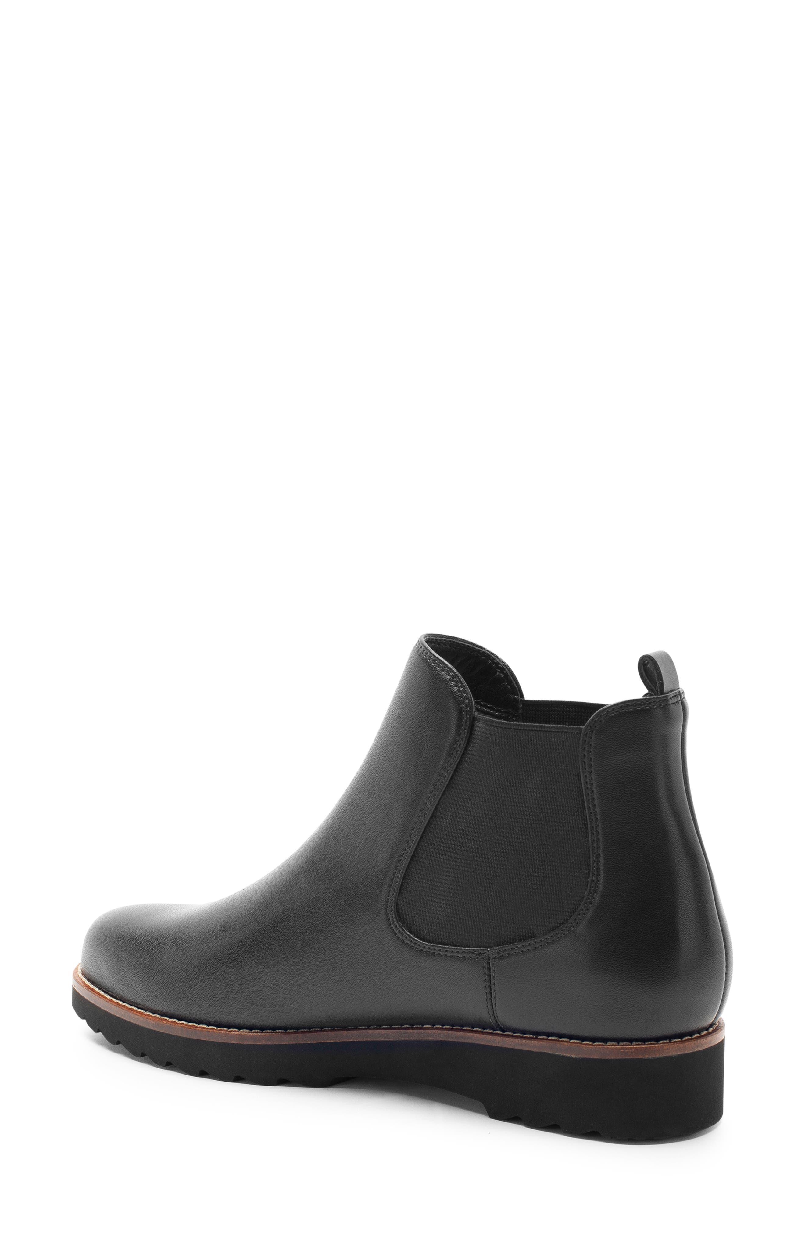 Roman Waterproof Bootie,                             Alternate thumbnail 2, color,                             Black Leather