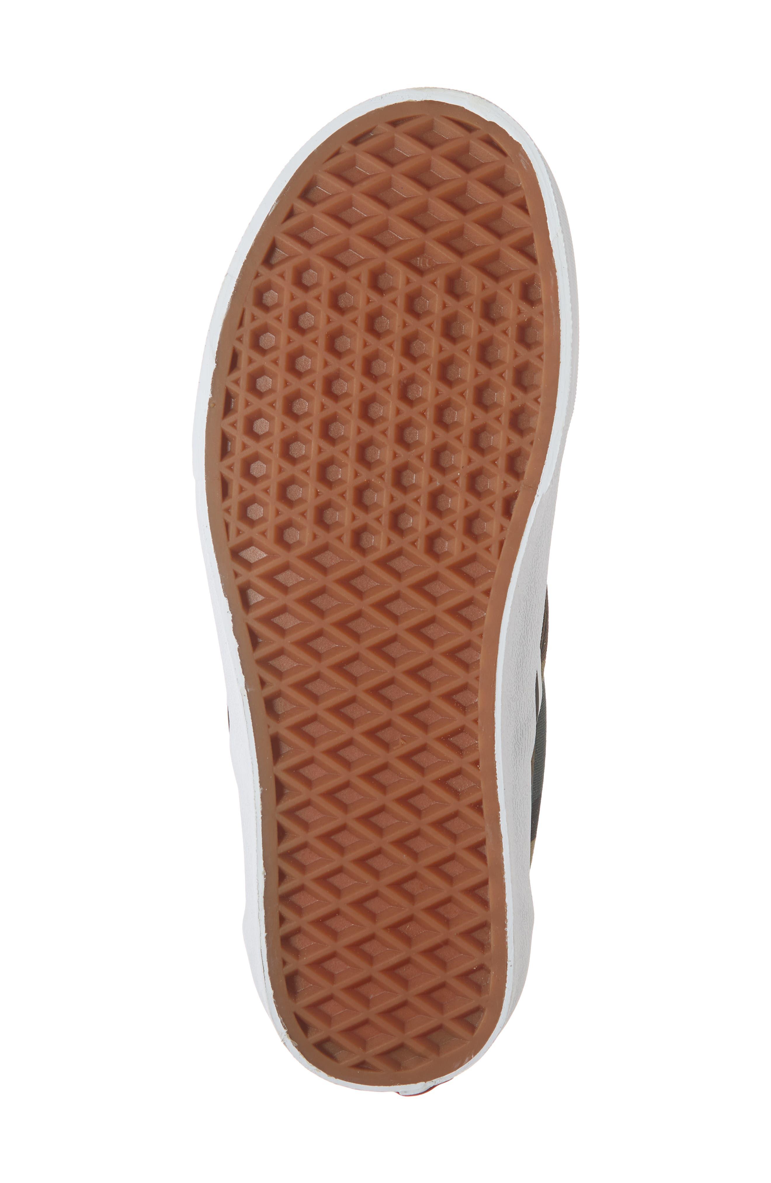 Classic Slip-On Sneaker,                             Alternate thumbnail 4, color,                             Black / Woodland