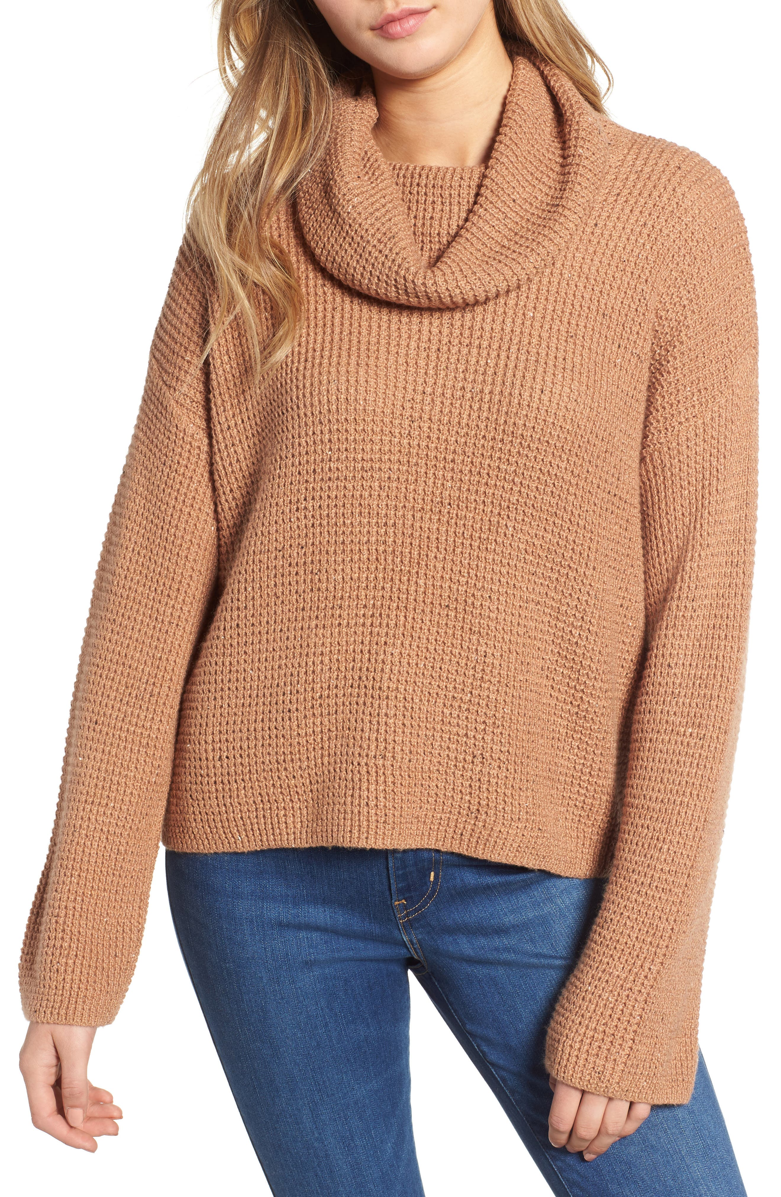 Chunky Thermal Cowl Neck Sweater (Regular \u0026 Plus Size)