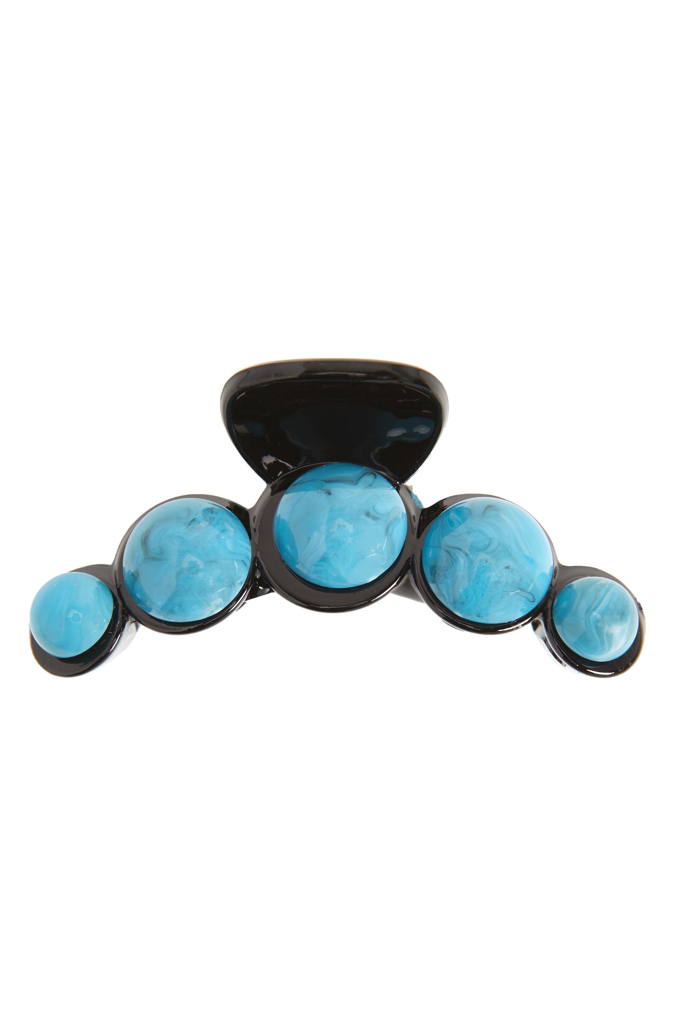 Crystal Jaw Clip,                         Main,                         color, Black/ Blue