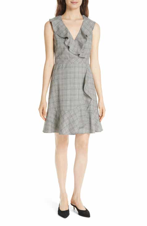 kate spade new york mod plaid fit & flare dress