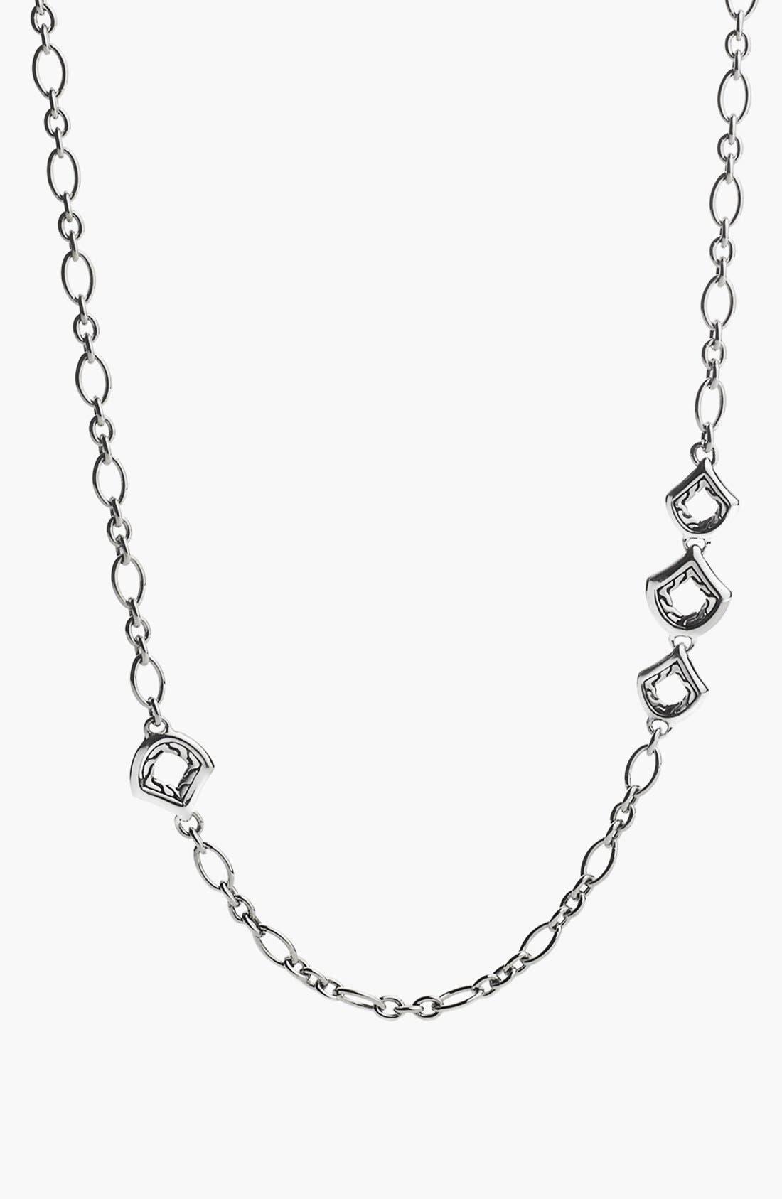 'Naga - Figaro' Station Necklace,                             Main thumbnail 1, color,                             Silver
