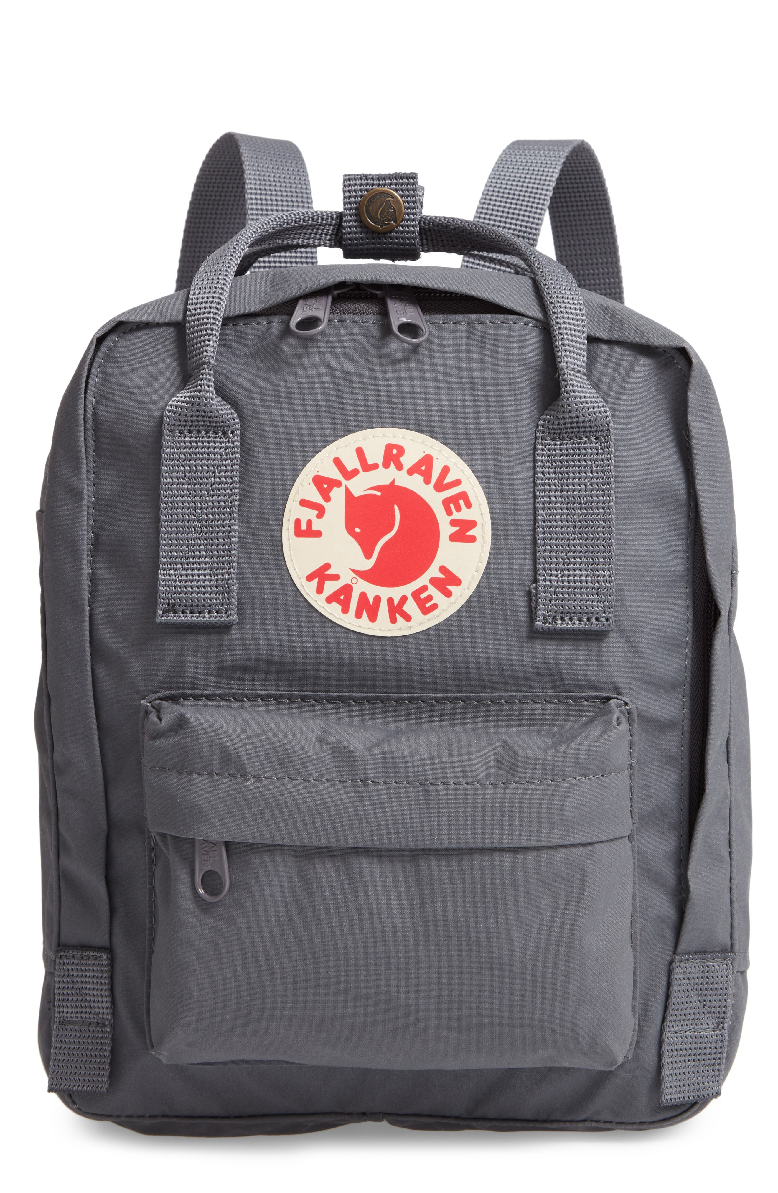 'Mini Kånken' Water Resistant Backpack,                             Main thumbnail 1, color,                             Super Grey