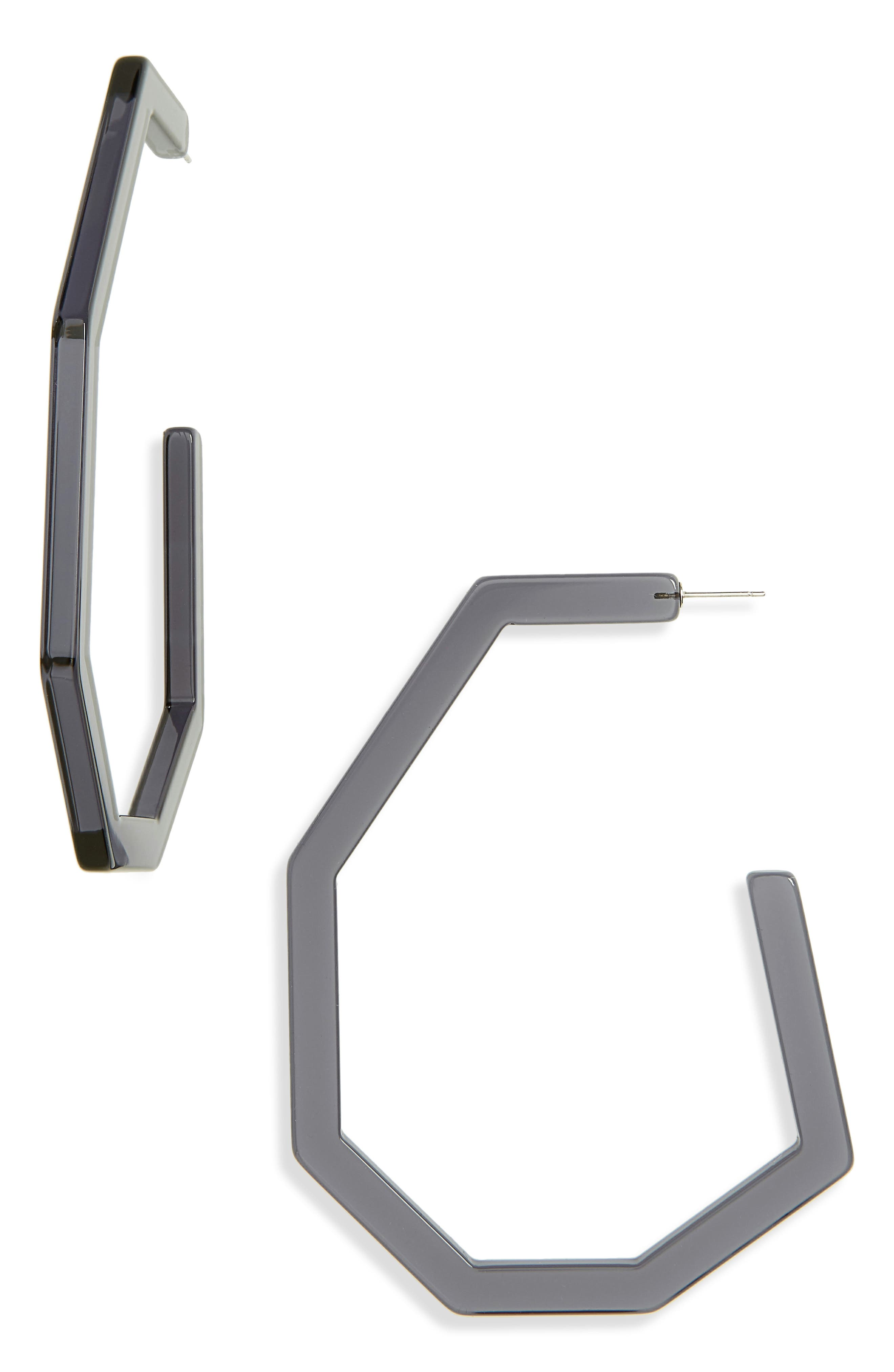 Emory Sculptural Hoop Earrings, Smokey