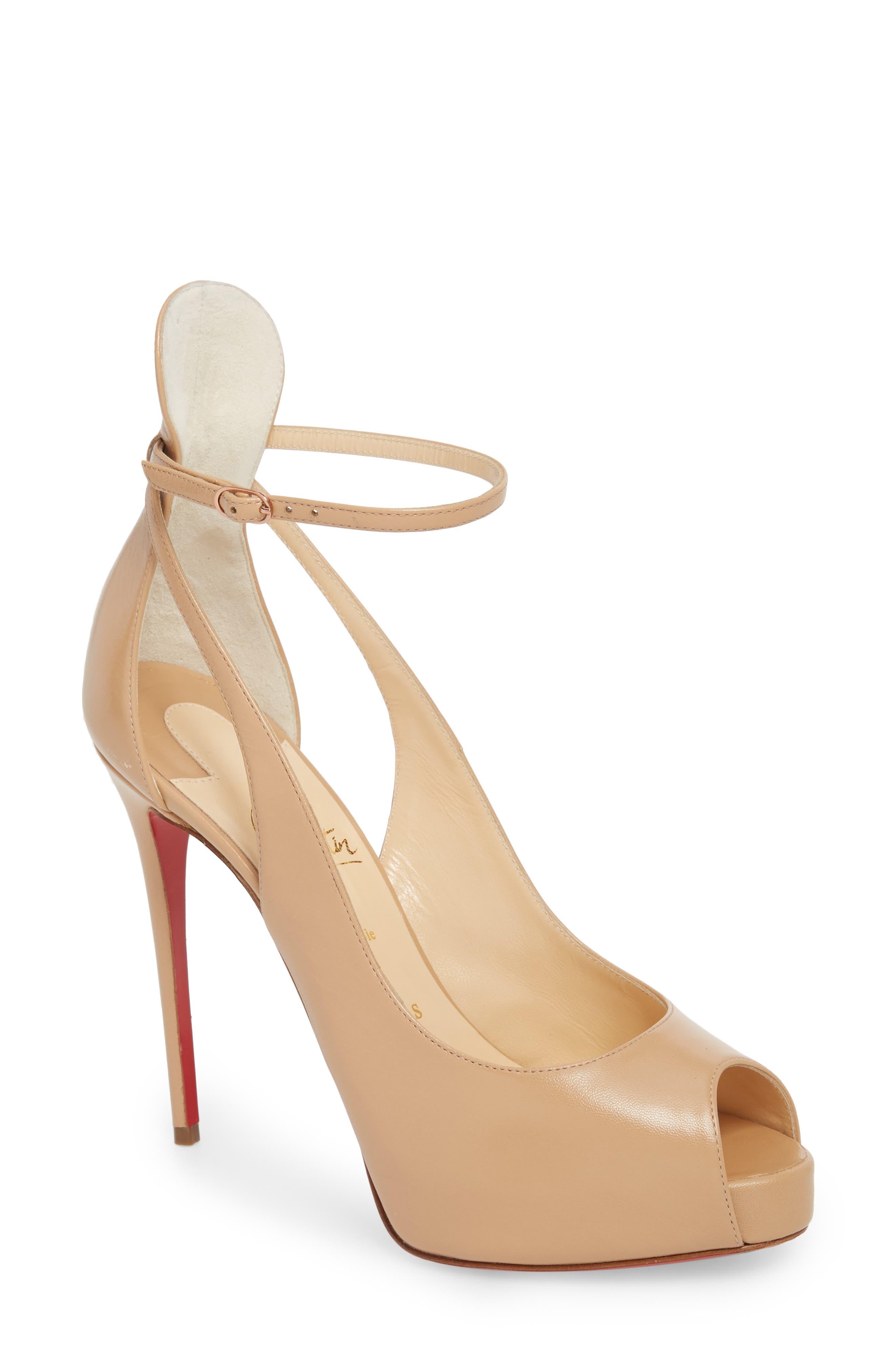 Mascaralta Ankle Strap Platform Sandal, Nude