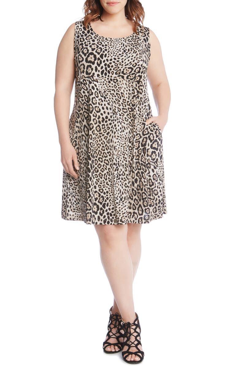 Chloe Leopard Print A-Line Dress