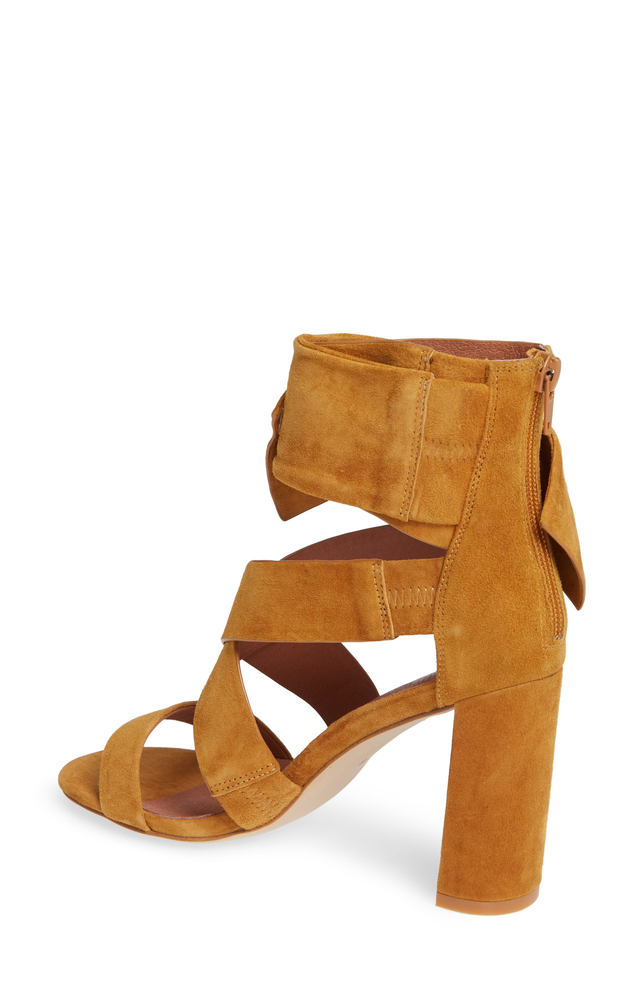 Despoina Sandal,                             Alternate thumbnail 2, color,                             Mustard Suede Leather