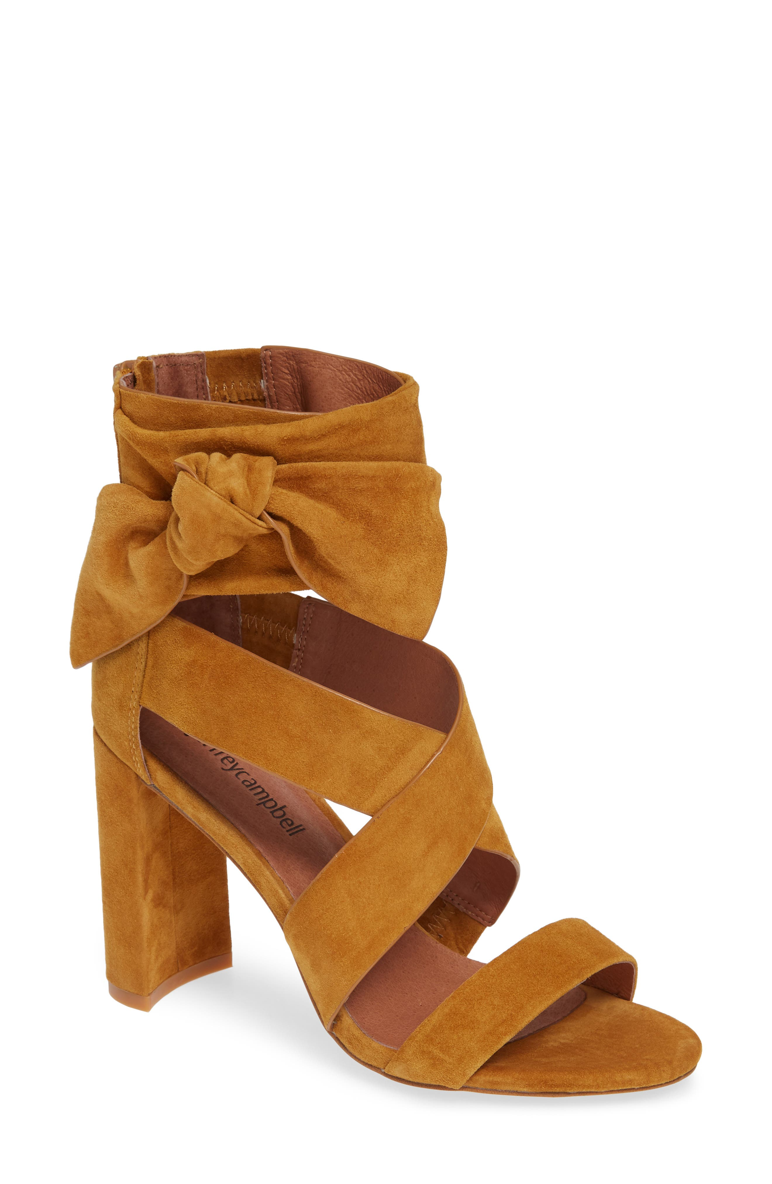 Despoina Sandal,                         Main,                         color, Mustard Suede Leather